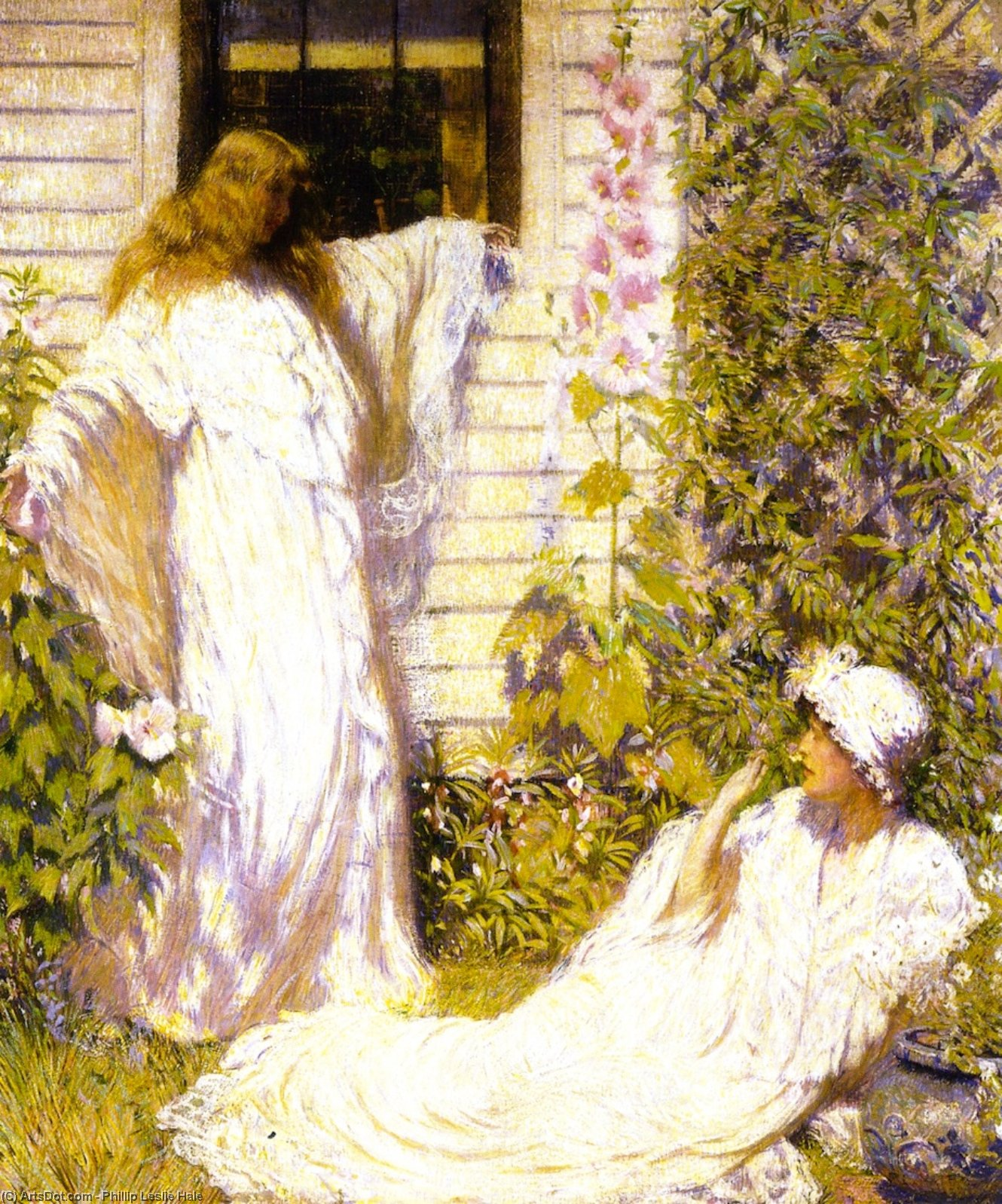 Sun Bath, Oil On Canvas by Philip Leslie Hale