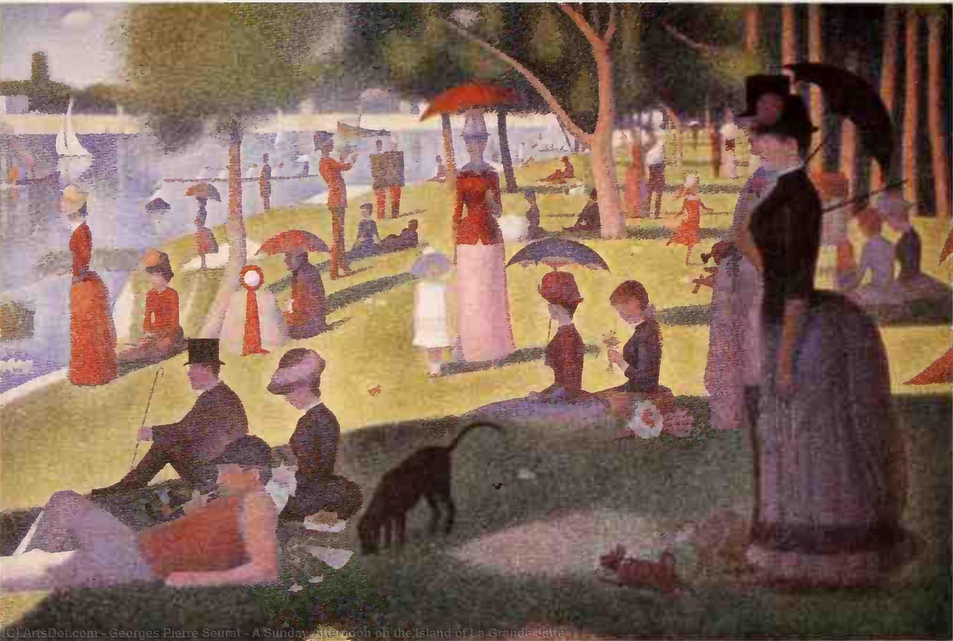 A Sunday Afternoon on the Island of La Grande Jatte, 1886 by Georges Pierre Seurat (1859-1891, France) | Museum Quality Reproductions | ArtsDot.com