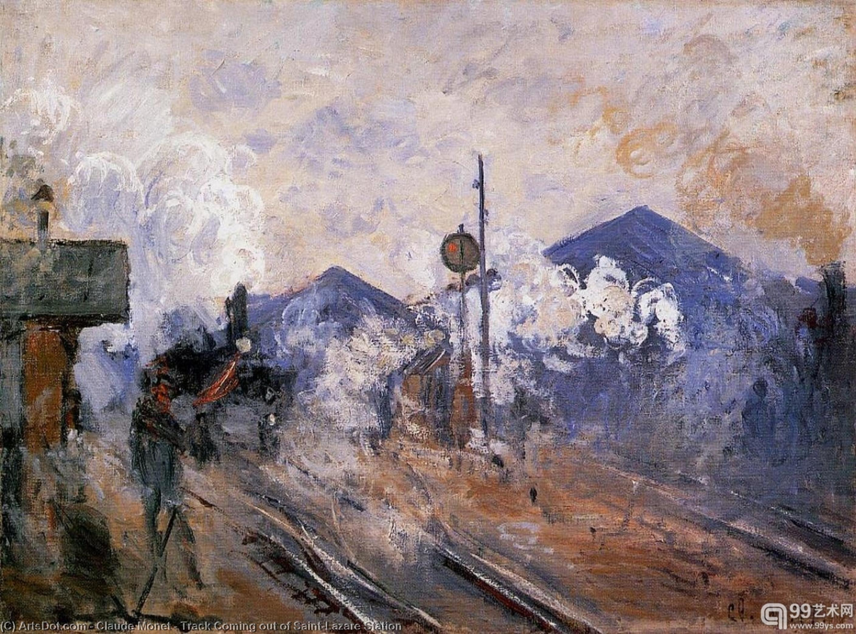 Track Coming out of Saint-Lazare Station, 1877 by Claude Monet (1840-1926, France) | Reproductions Claude Monet | ArtsDot.com