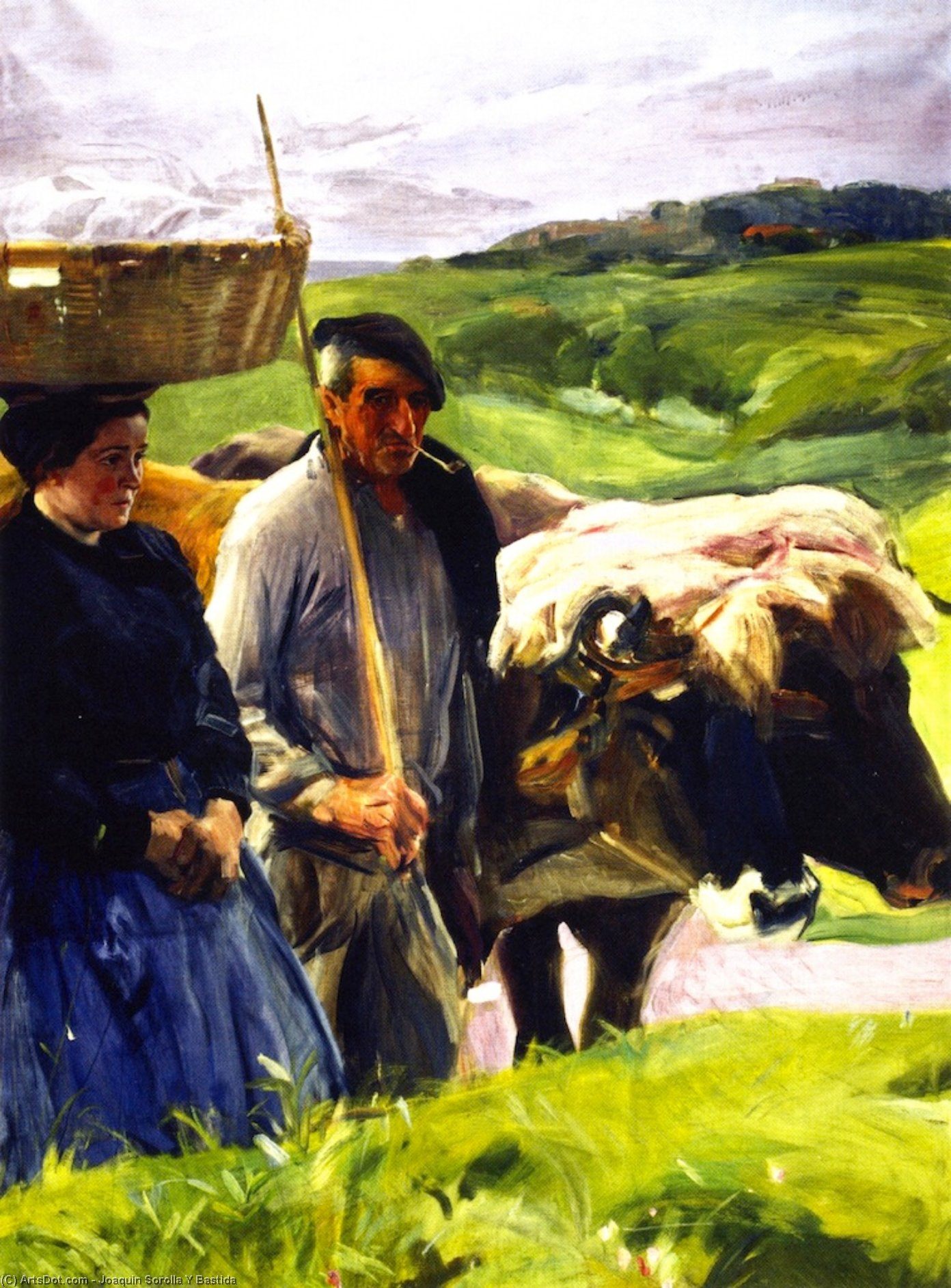 Typical Guipuzcoans, Oil On Canvas by Joaquin Sorolla Y Bastida (1863-1923, Spain)