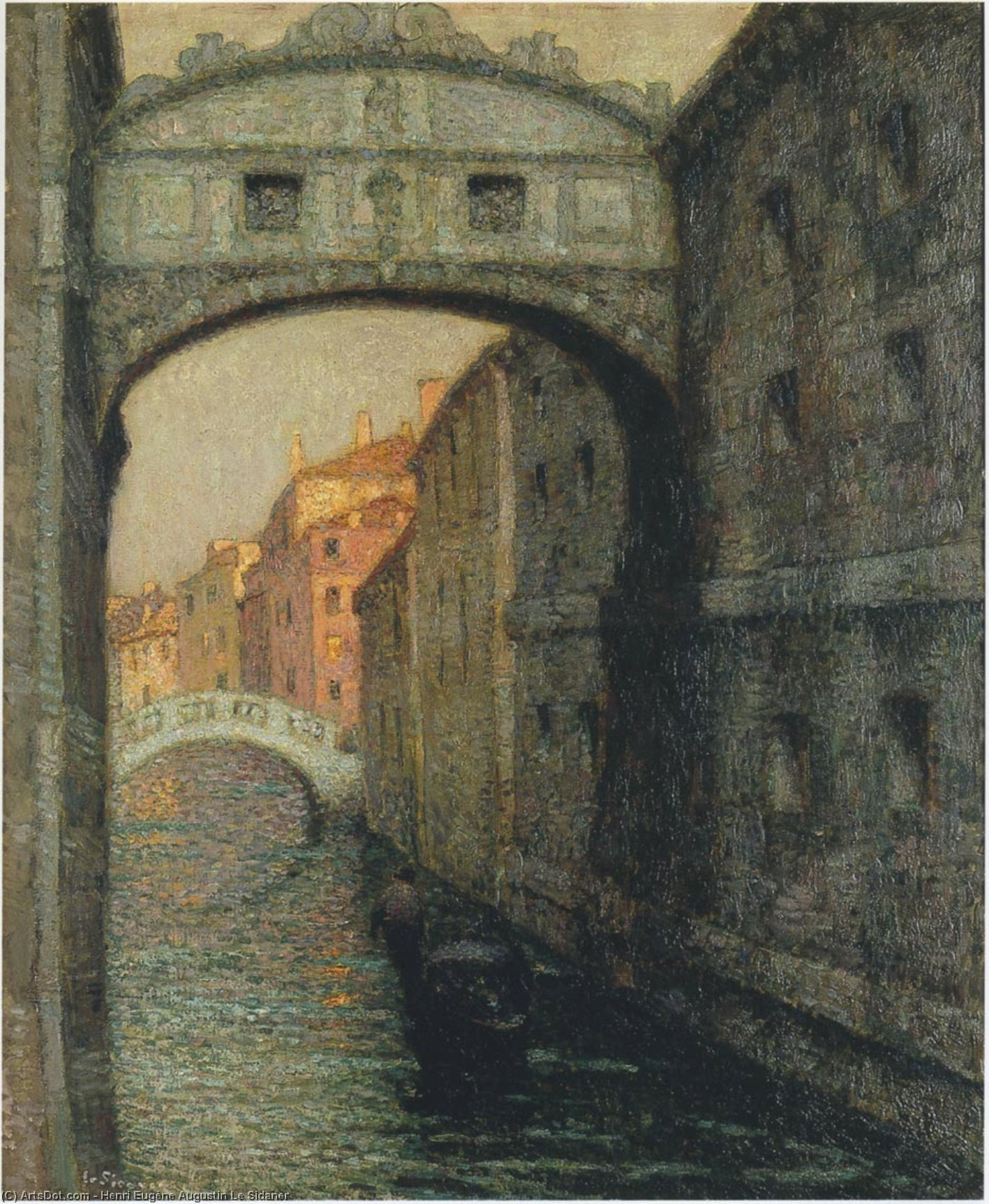 Venice - the Canal of Sighs, 1914 by Henri Eugène Augustin Le Sidaner (1862-1939, Mauritius) | Museum Art Reproductions | ArtsDot.com
