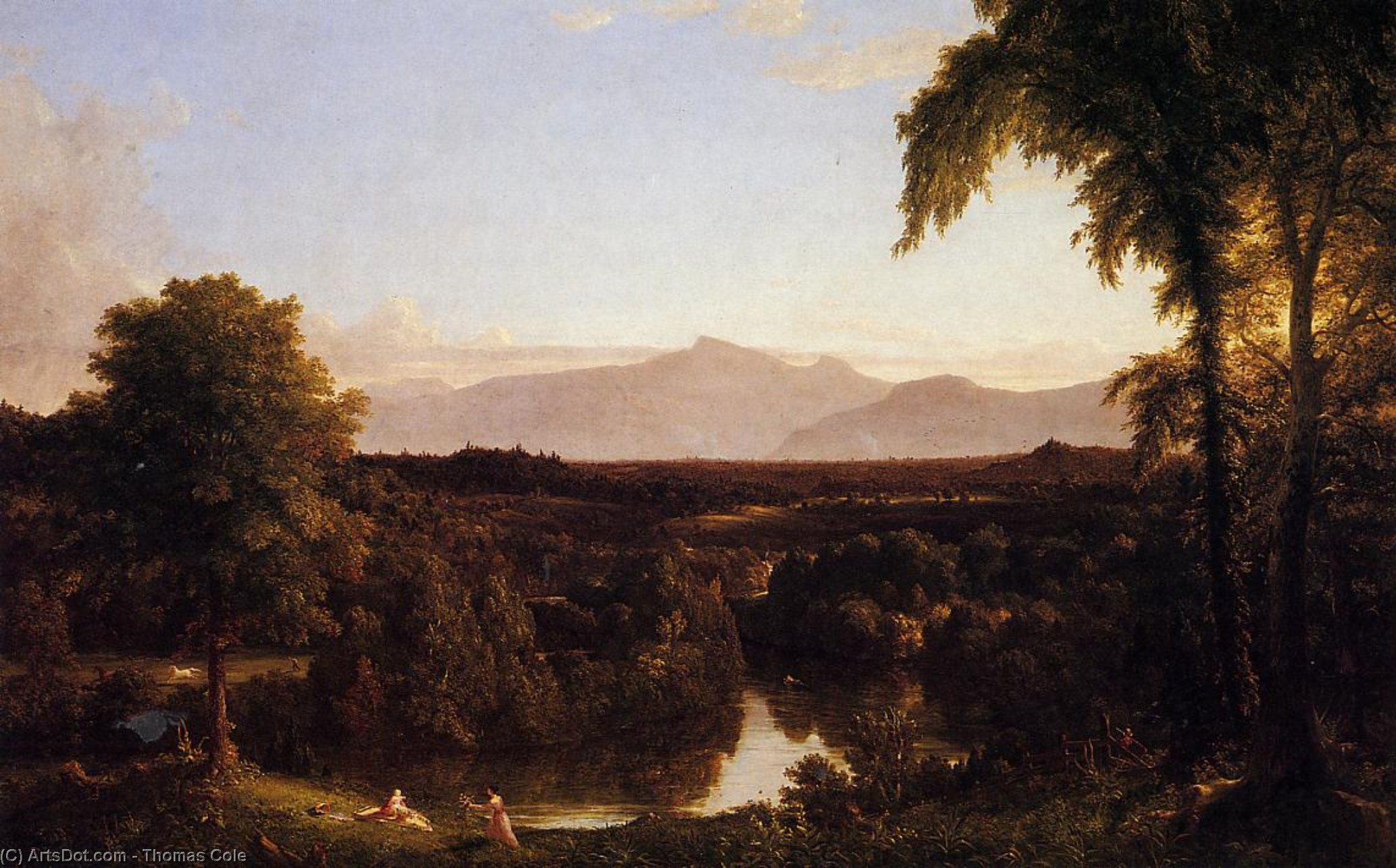 View on the Catskill, Early Autunm, 1837 by Thomas Cole (1801-1848, United Kingdom) | Art Reproduction | ArtsDot.com