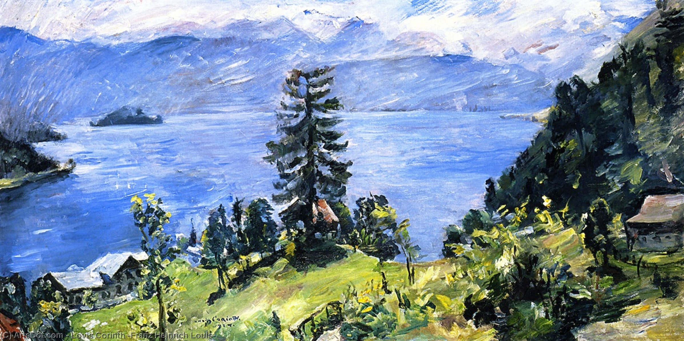 Walchensee Panorama, Oil On Canvas by Lovis Corinth (Franz Heinrich Louis) (1858-1925, Netherlands)