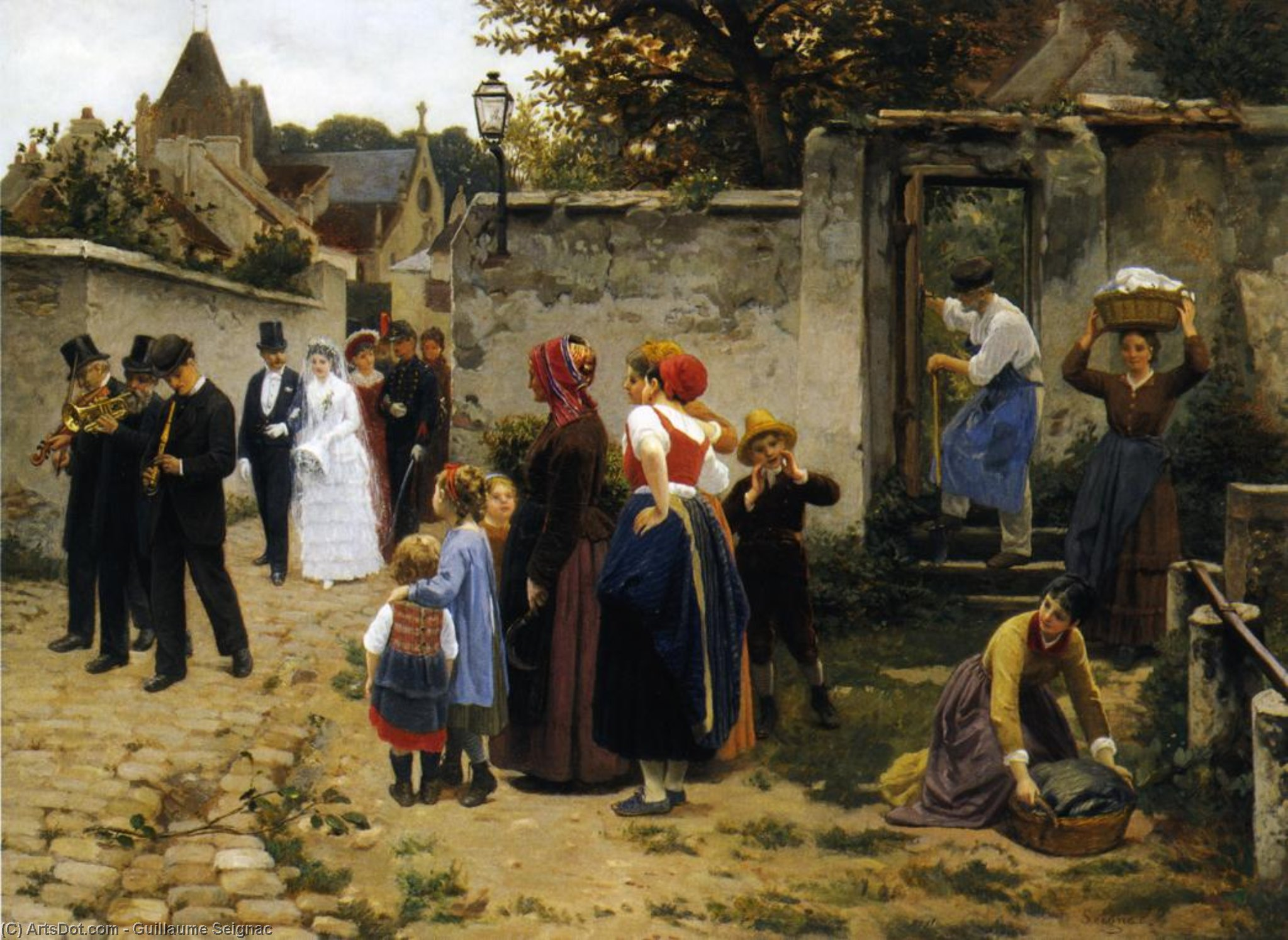 The Wedding Procession by Guillaume Seignac (1870-1924, France) | Museum Art Reproductions | ArtsDot.com
