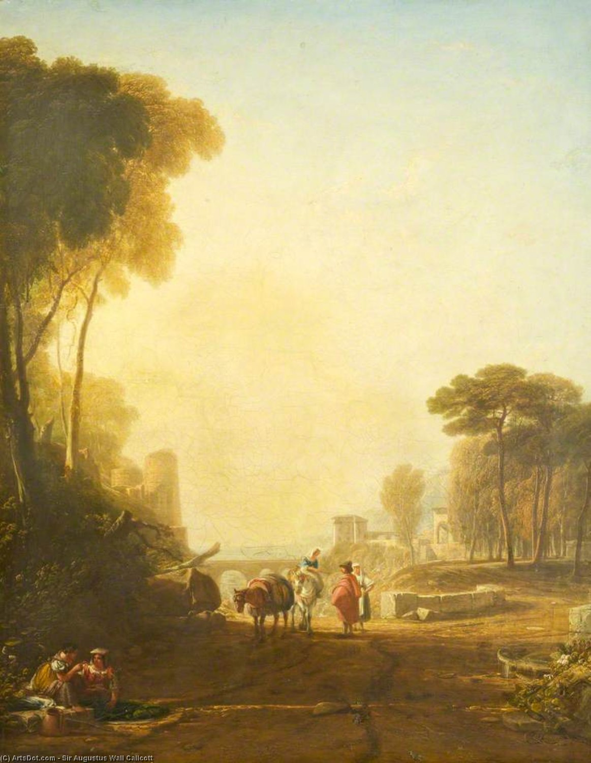 Classical Landscape by Augustus Wall Callcott (1779-1844, United Kingdom)