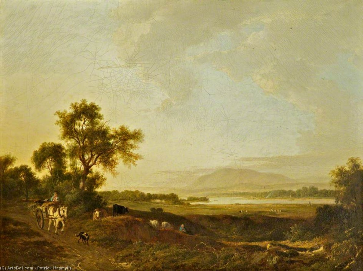 View On The Clyde by Patrick Nasmyth (1787-1831, United Kingdom)
