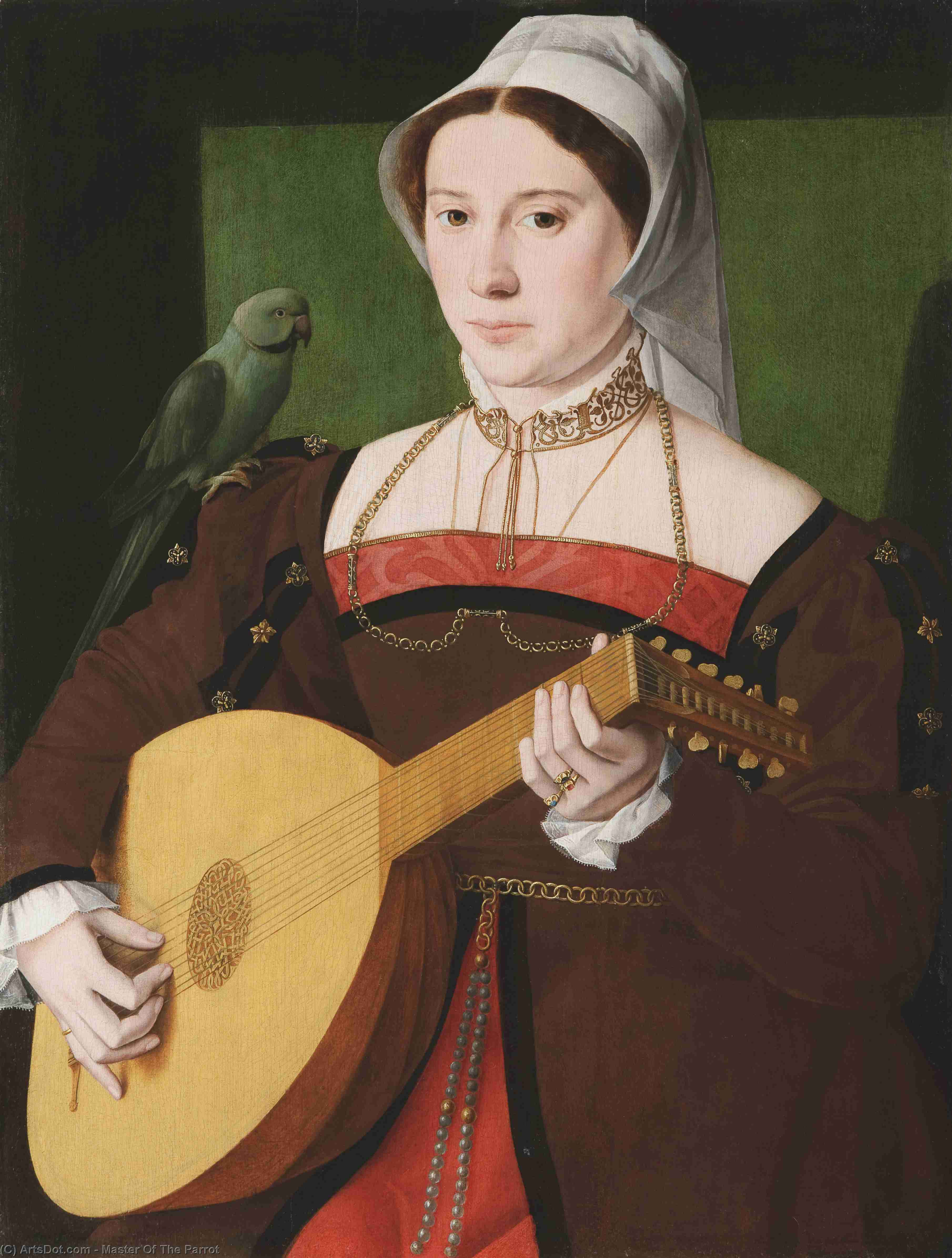 Portrait Of A Woman by Master Of The Parrot