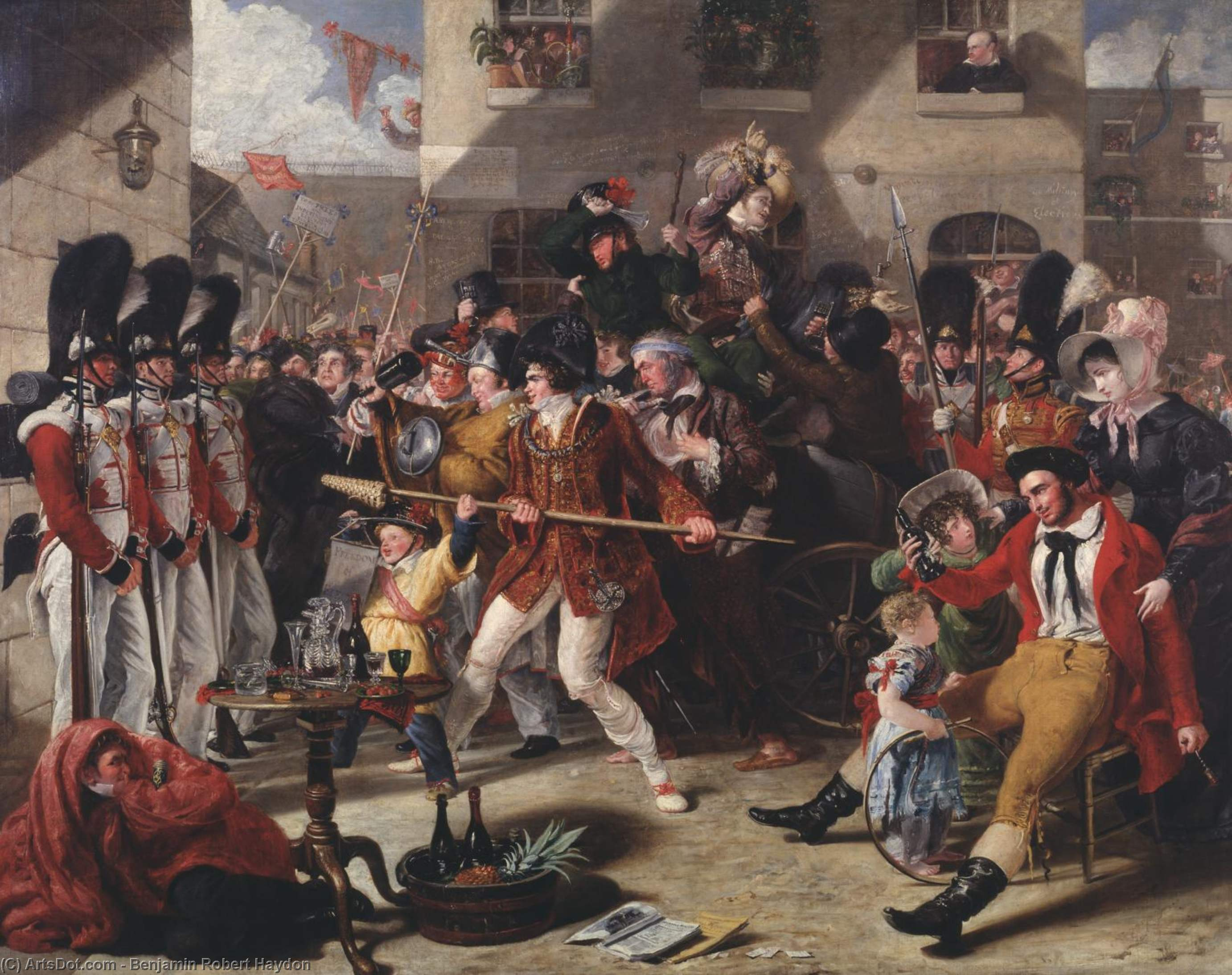 The Mock Election by Benjamin Robert Haydon (1786-1846, United Kingdom) | ArtsDot.com