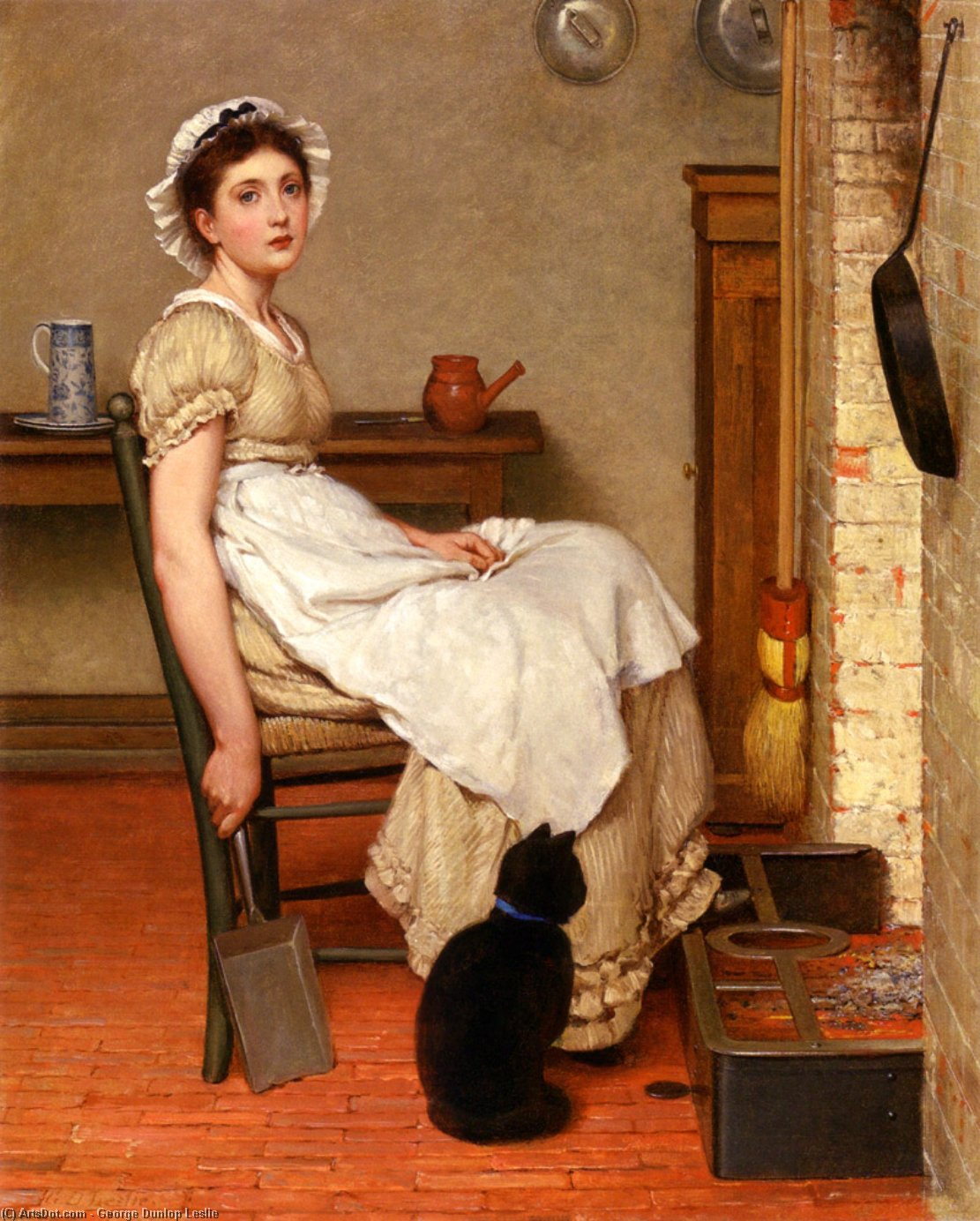 Her First Place by George Dunlop Leslie (1835-1921, United Kingdom) | Oil Painting | ArtsDot.com