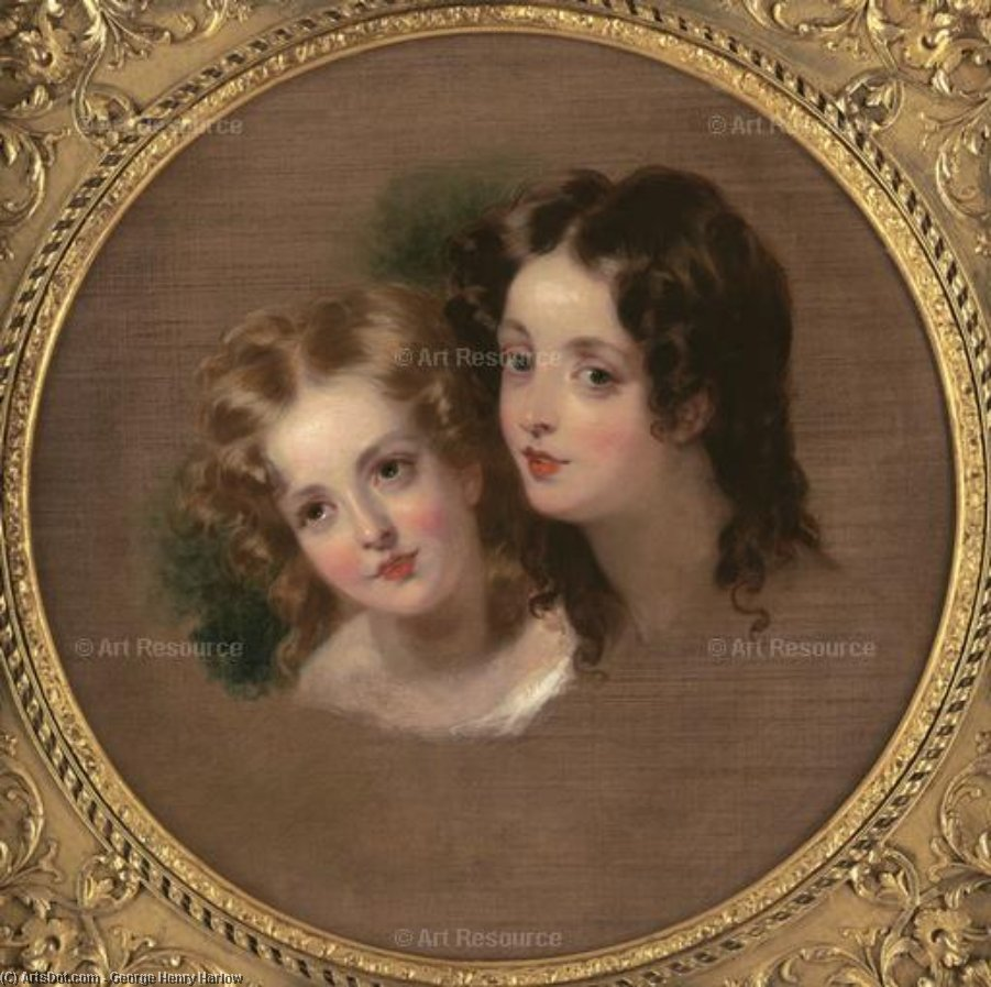 Study Of Two Children by George Henry Harlow (1787-1819, United Kingdom)