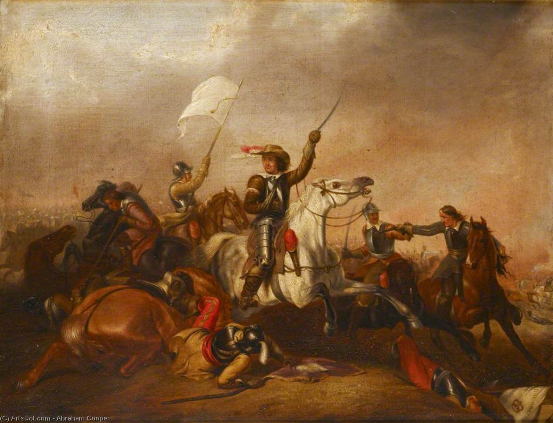 Cromwell At Marston Moor by Abraham Cooper (1787-1868, United Kingdom)