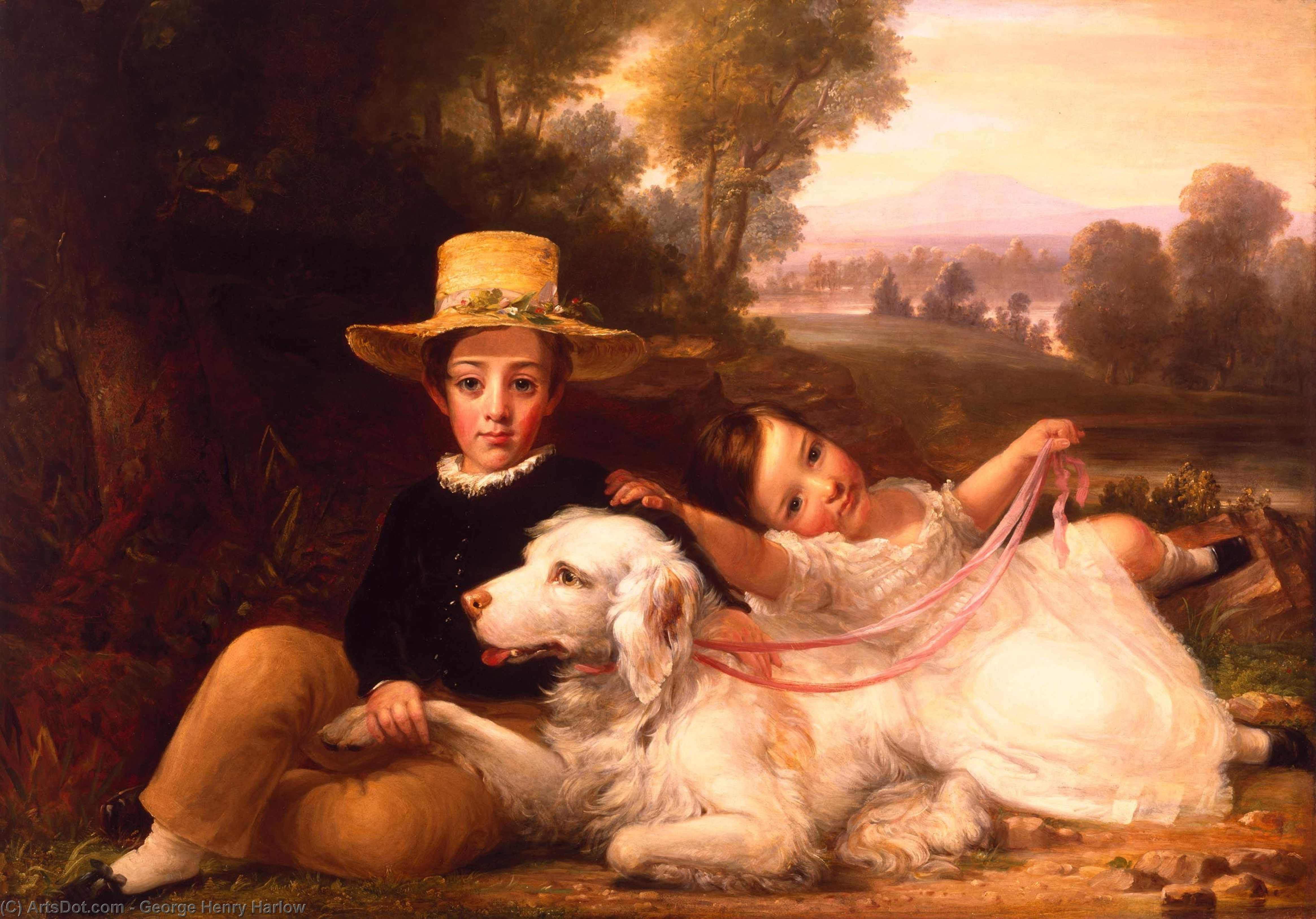 Portrait Of Two Children by George Henry Harlow (1787-1819, United Kingdom)