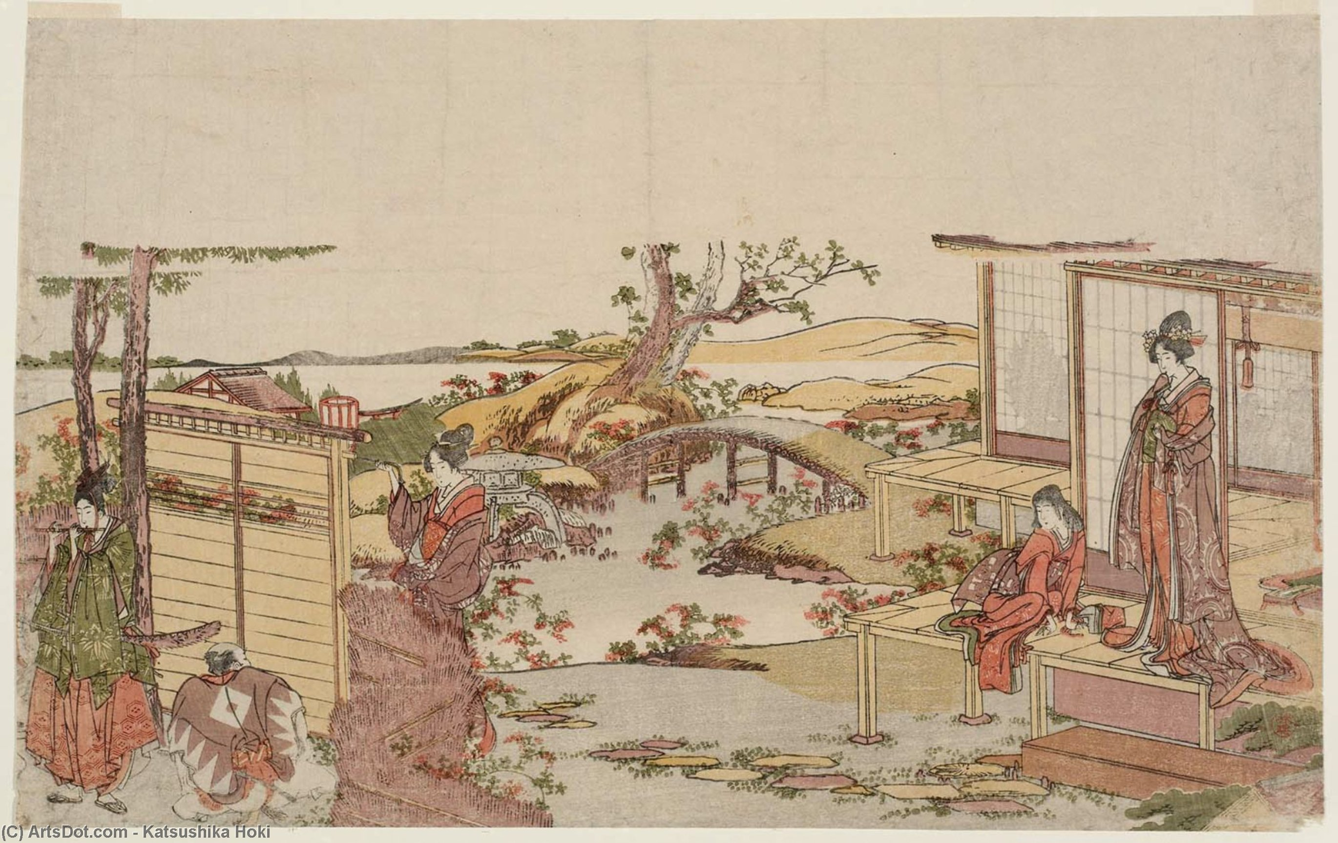 A Modern Version Of Ushiwakamaru by Katsushika Hokusai (1760-1849, Japan)