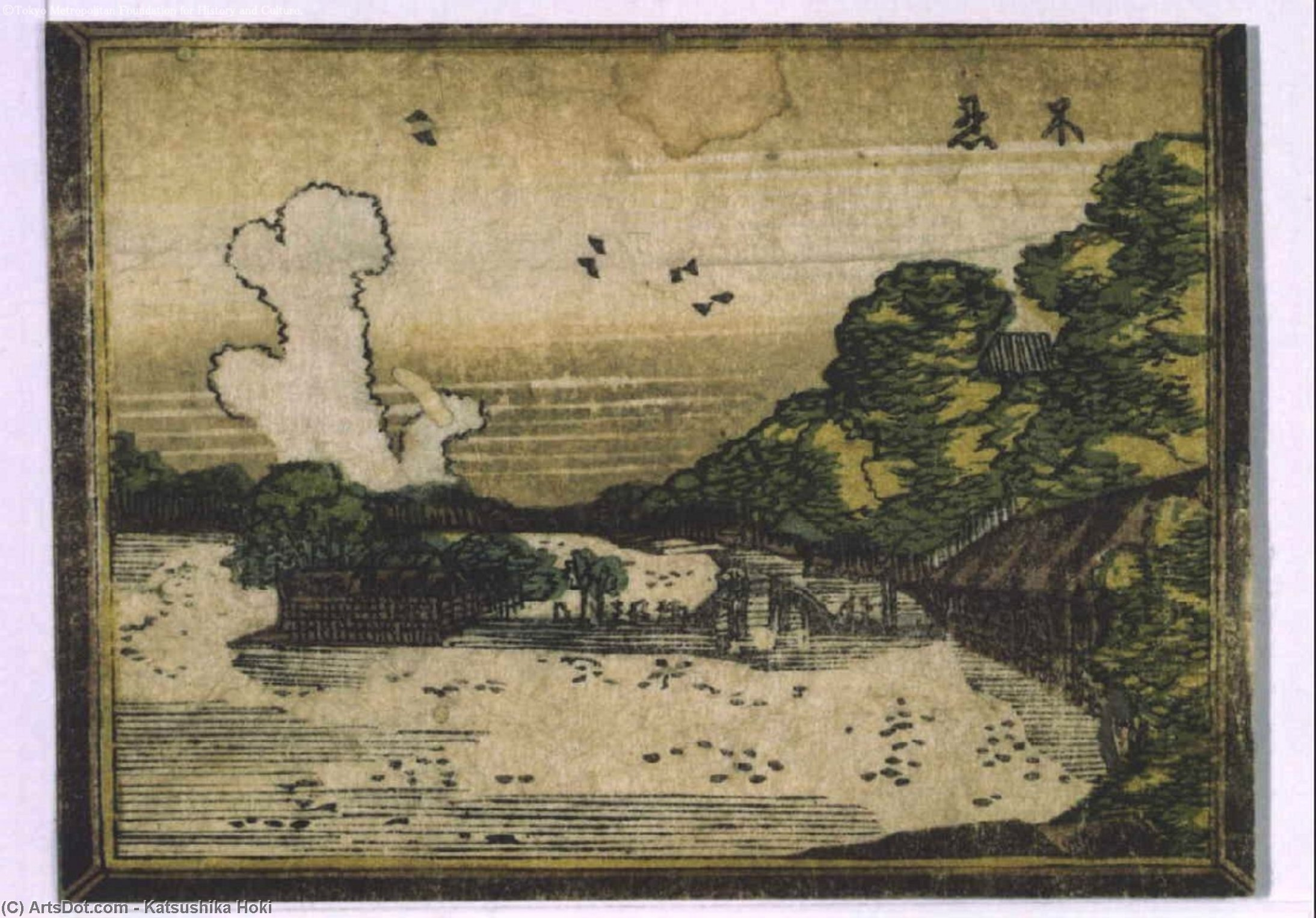 Eight Views Of Edo In Style Of Western by Katsushika Hokusai (1760-1849, Japan)