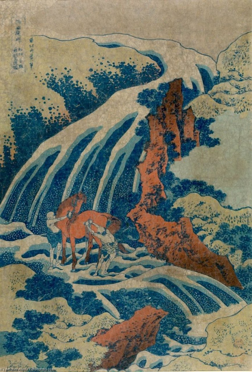 The Waterfalls Of Various Provinces by Katsushika Hokusai (1760-1849, Japan) | Museum Art Reproductions | ArtsDot.com