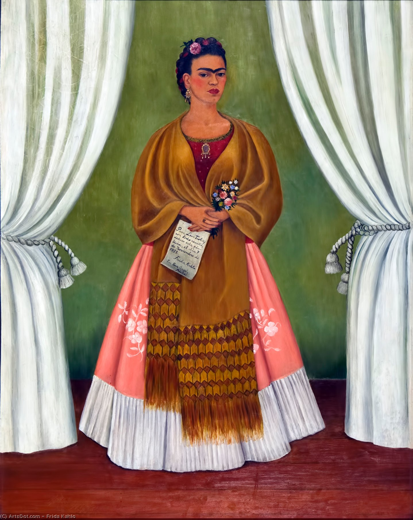 Self Portrait (Dedicated to Leon Trotsky) by Frida Kahlo (1907-1954, Mexico)