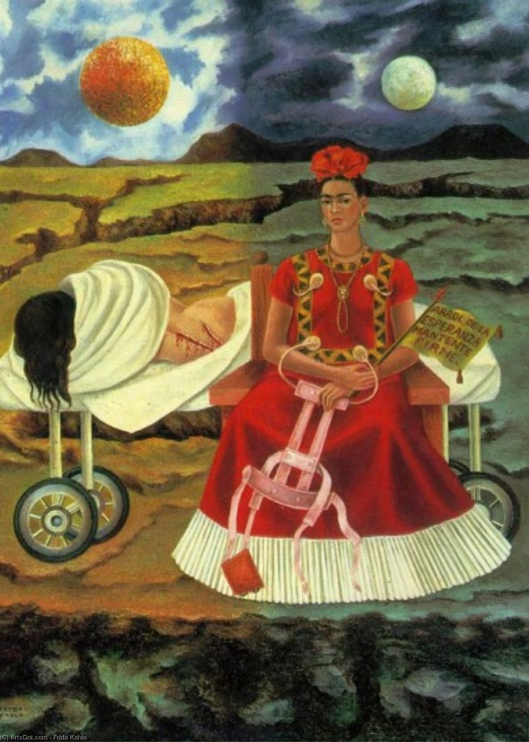 Tree of Hope by Frida Kahlo (1907-1954, Mexico)