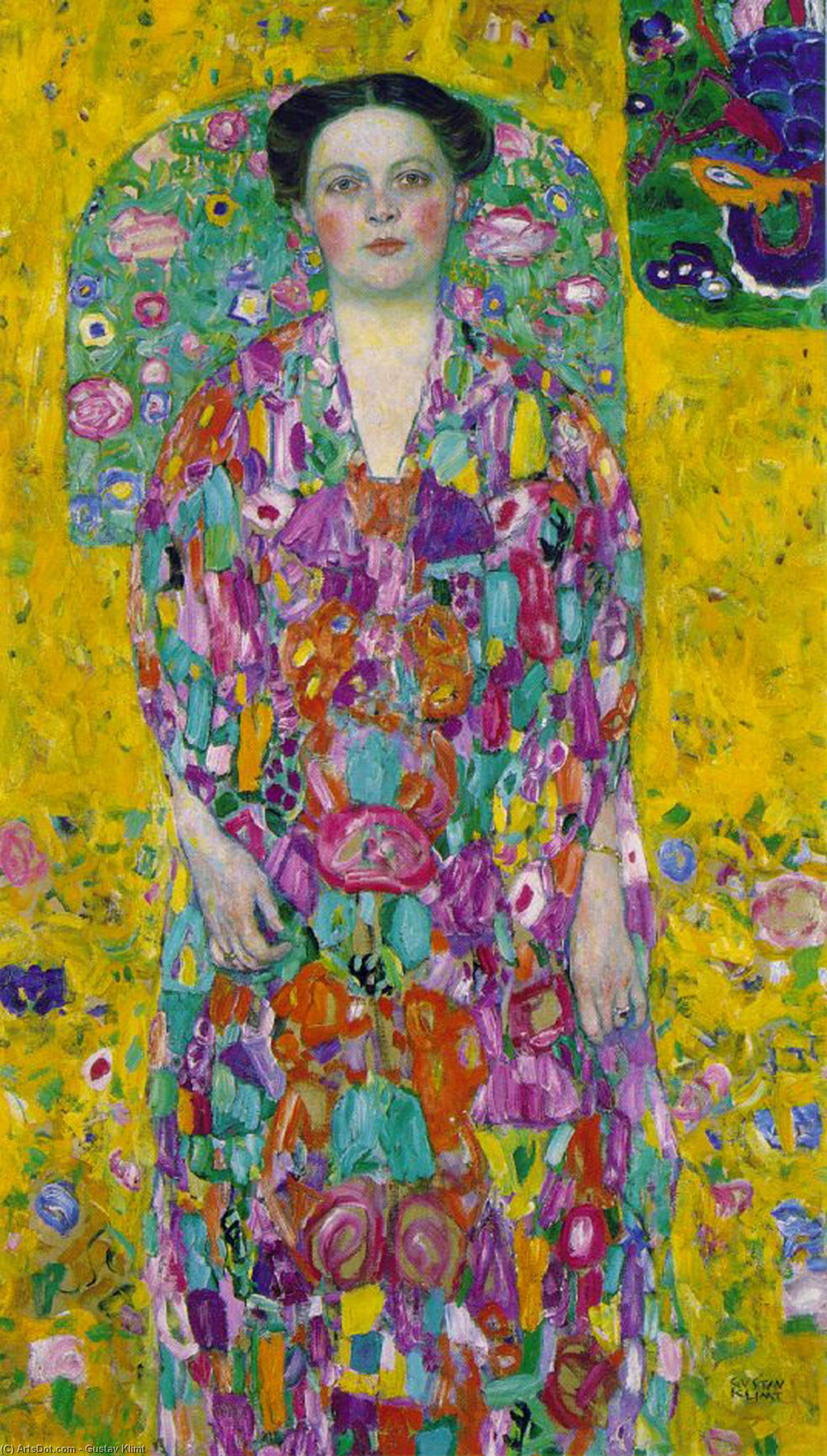 Portrait of Eugenia Primavesi by Gustav Klimt (1862-1918, Austria) | Museum Art Reproductions | ArtsDot.com