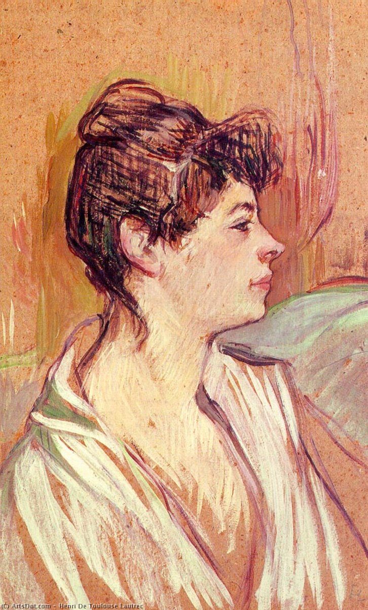 Portrait of Marcelle, 1894 by Henri De Toulouse Lautrec (1864-1901, France)