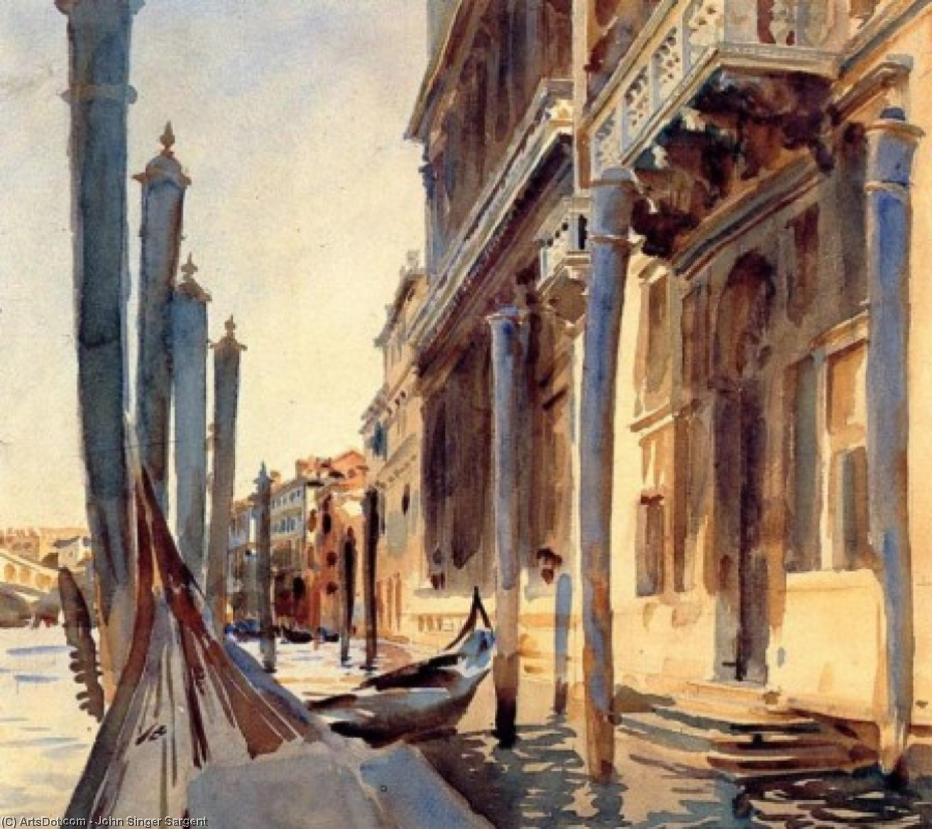 grand canal venice by John Singer Sargent (1856-1925, Italy) | Reproductions John Singer Sargent | ArtsDot.com
