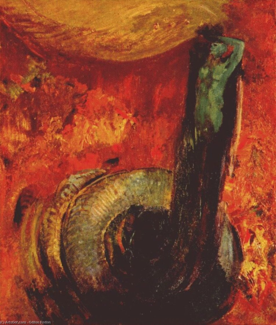 the green death after, 1905 by Odilon Redon (1840-1916, France) | Art Reproduction | ArtsDot.com