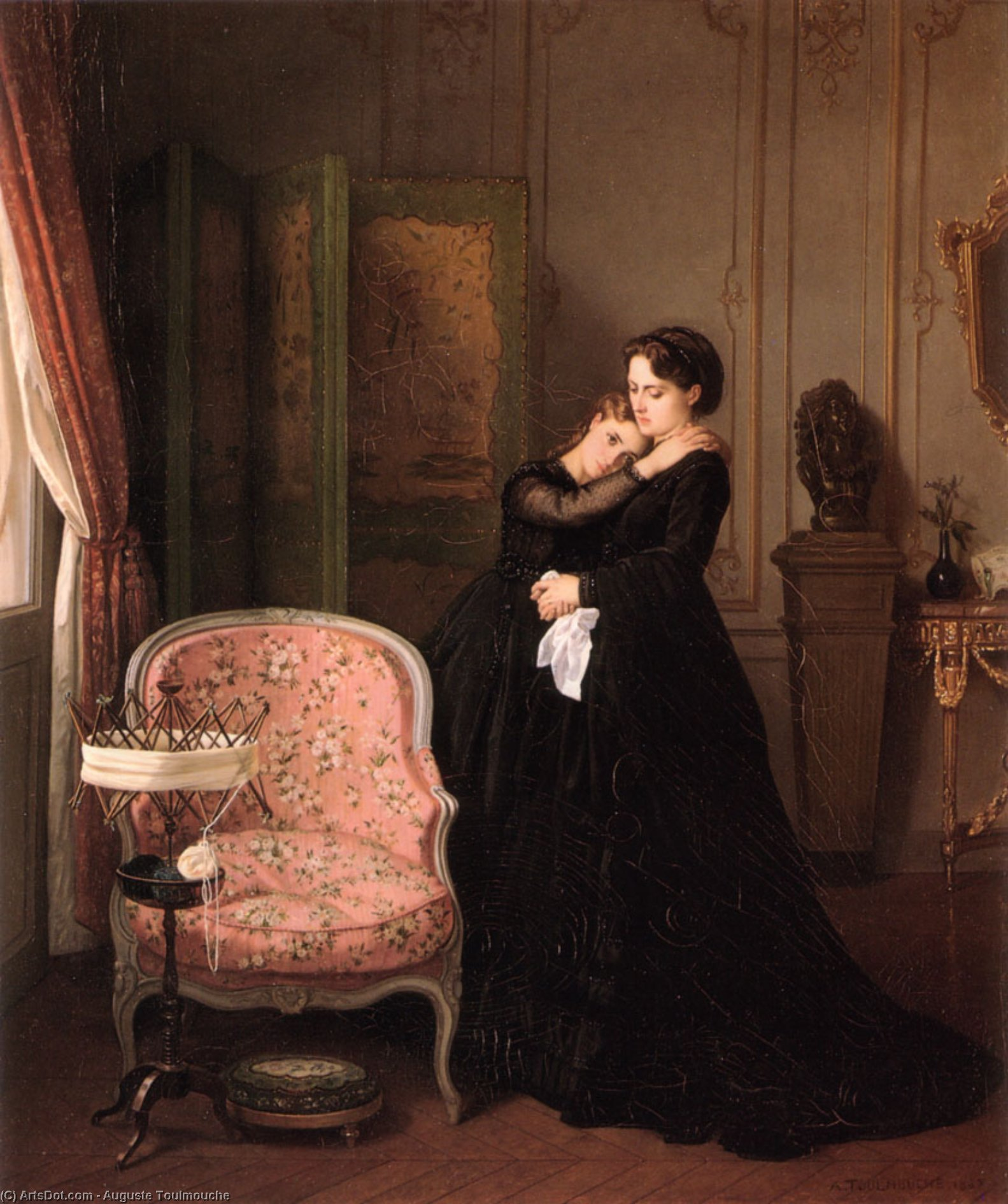 Consolation by Auguste Toulmouche (1829-1890, France)