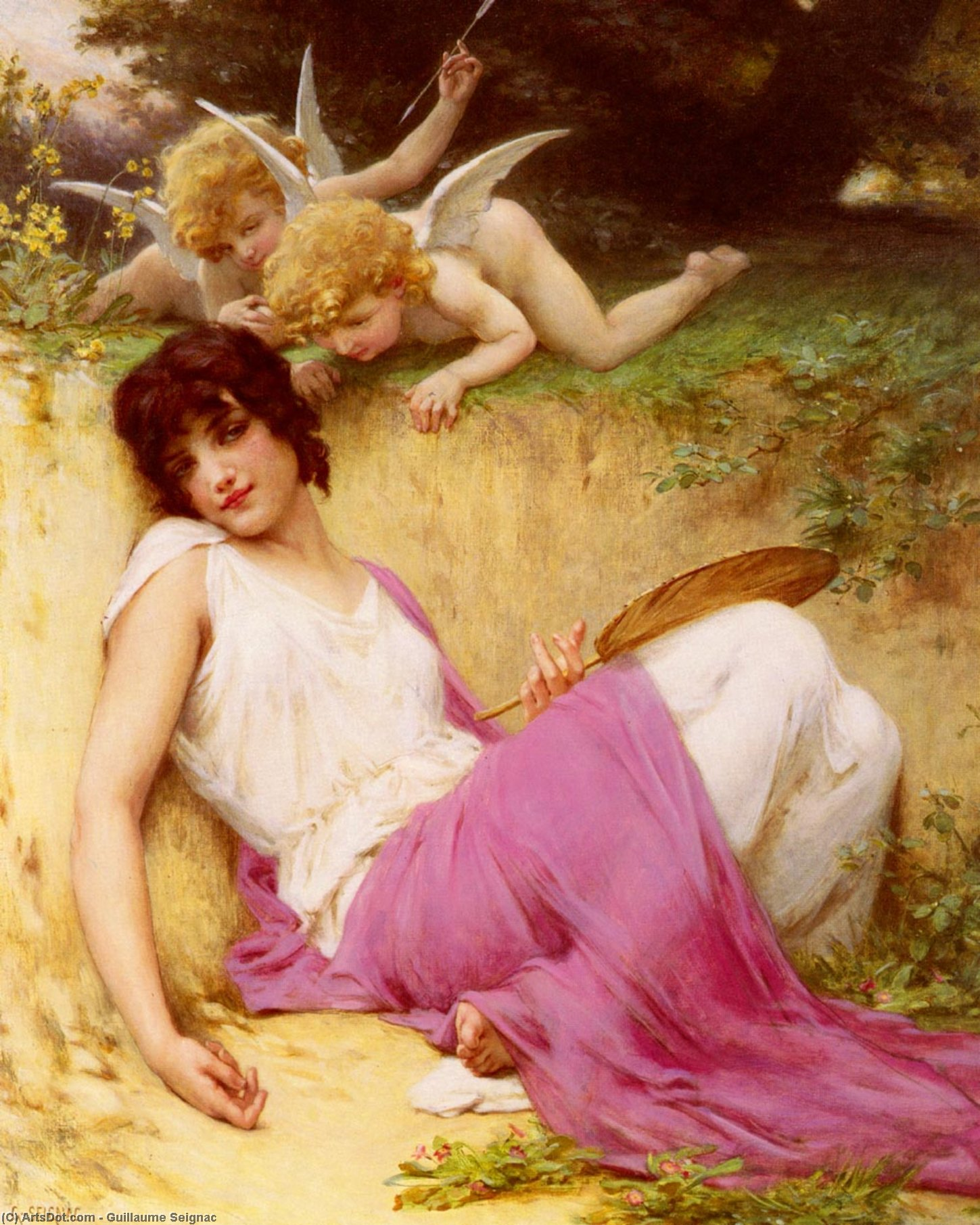 L innocence by Guillaume Seignac (1870-1924, France)