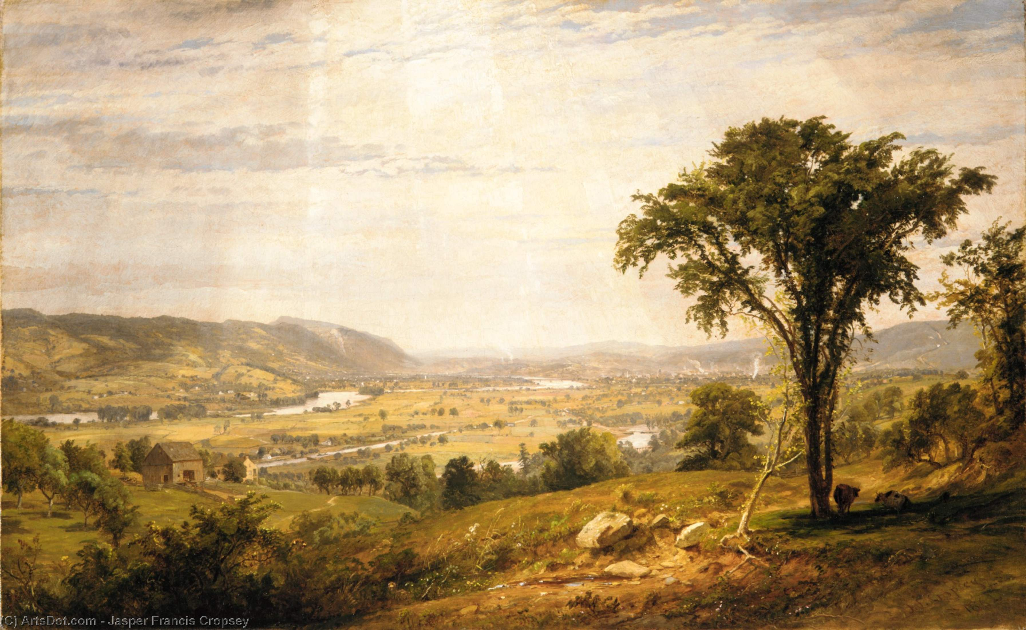 wyoming valley pennsylvania by Jasper Francis Cropsey (1823-1900, United States)