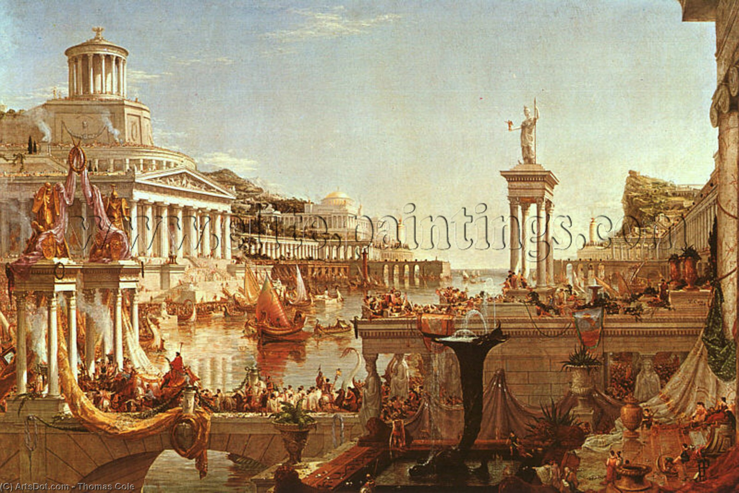 The Consummation from the series The Course of the Empire by Thomas Cole (1801-1848, United Kingdom)