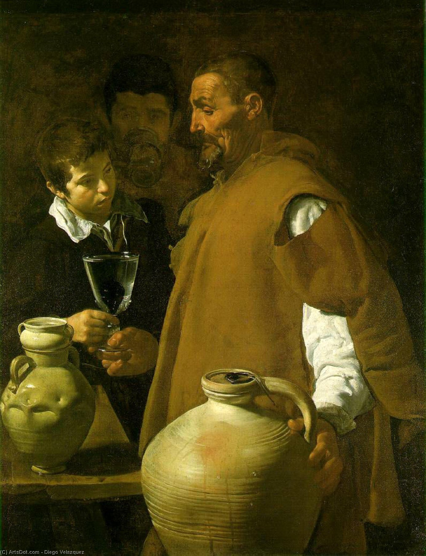 Waterseller seville by Diego Velazquez (1599-1660, Spain)