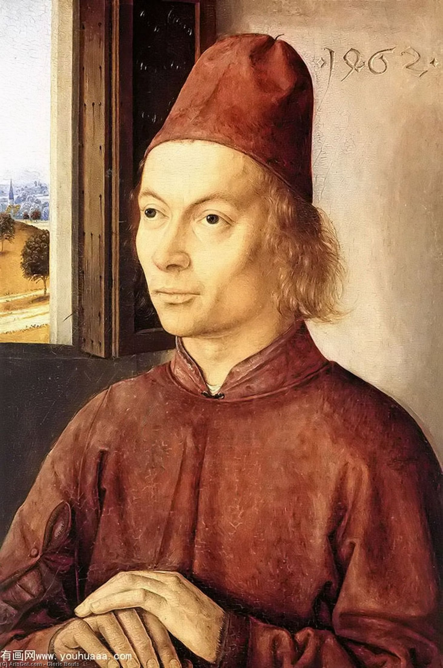 Portrait of a Man by Dieric Bouts (1415-1475, Netherlands)