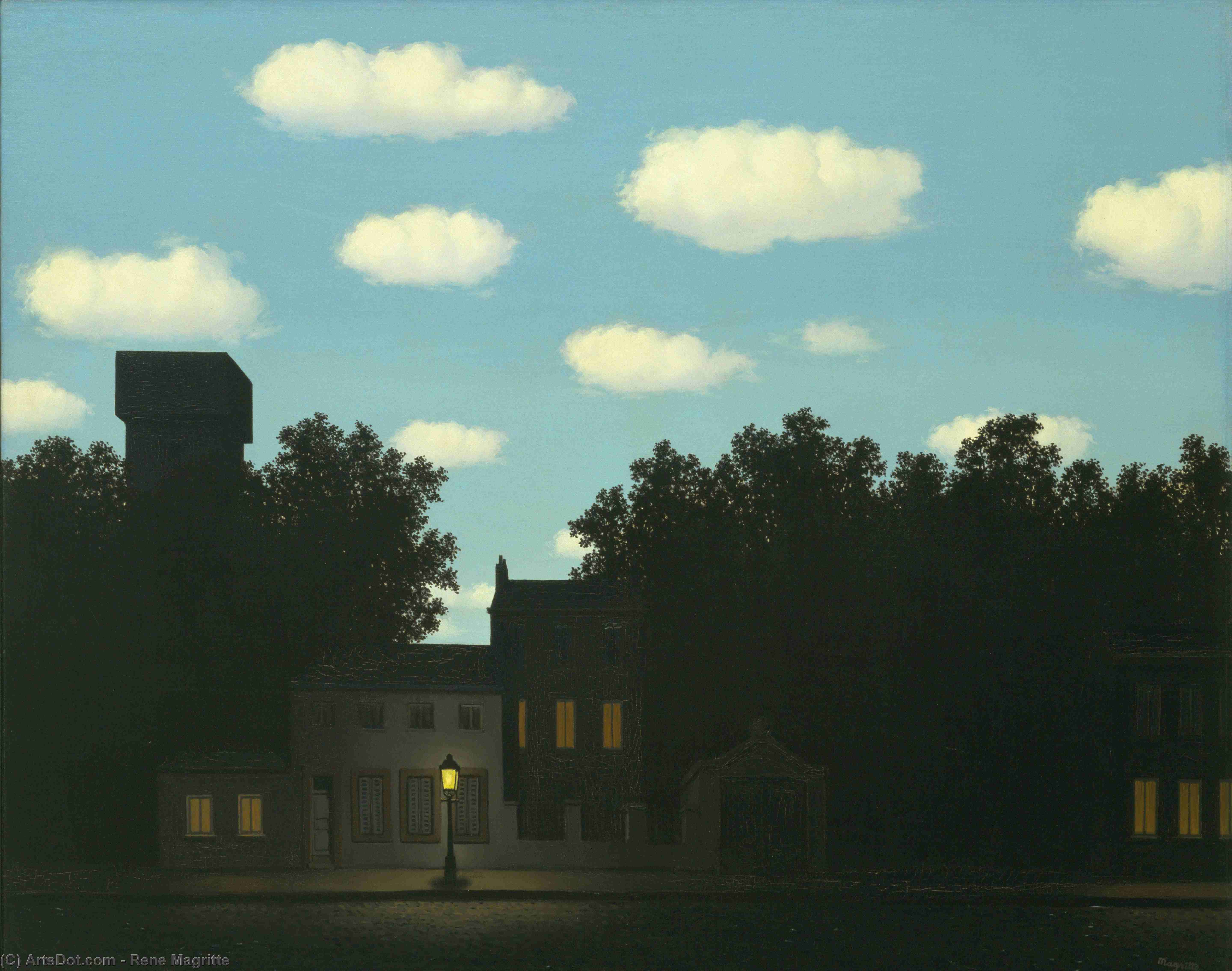 The Empire of Light, II by Rene Magritte (1898-1967, Belgium)