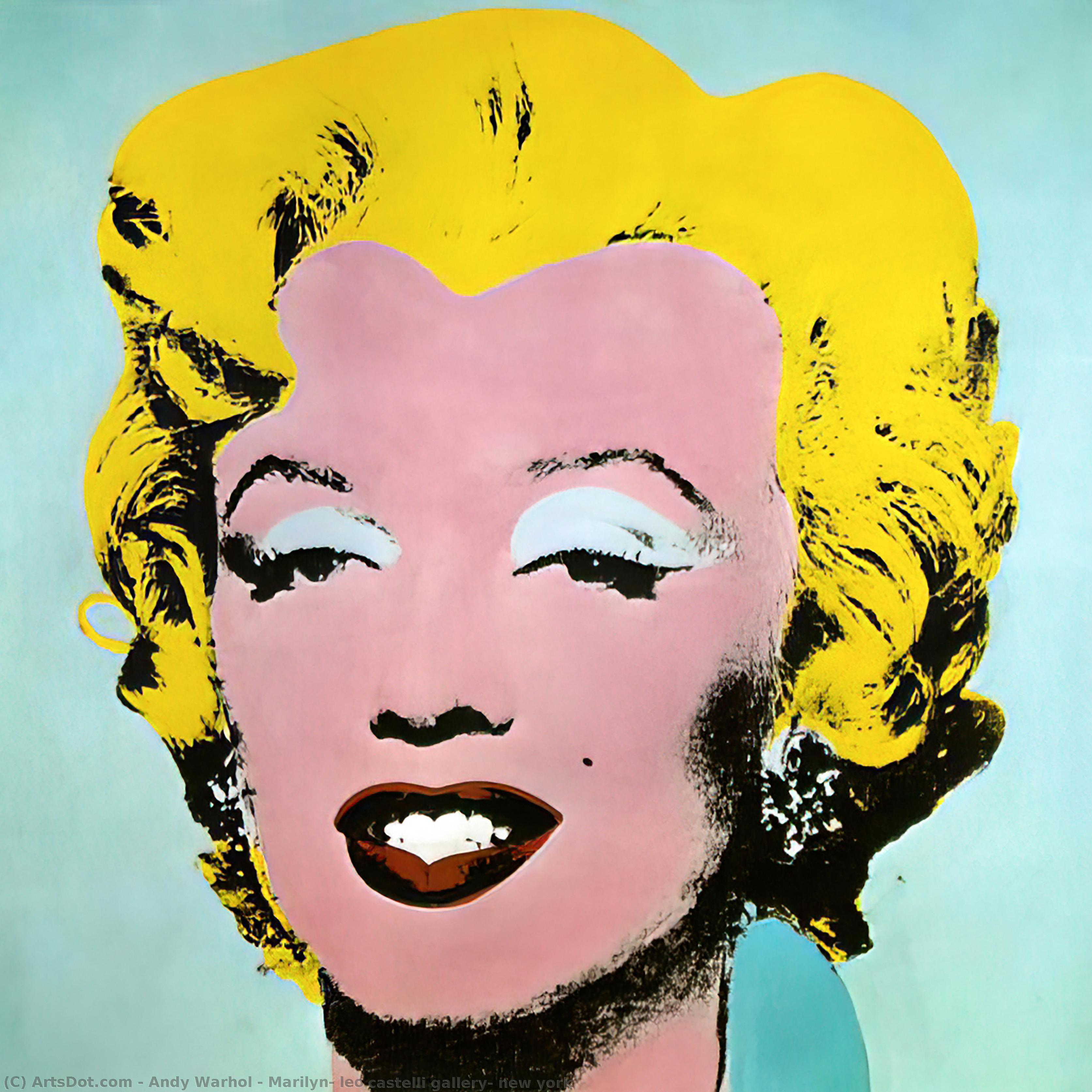Marilyn, leo castelli gallery, new york, 1964 by Andy Warhol (1928-1987, United States) | Museum Art Reproductions | ArtsDot.com