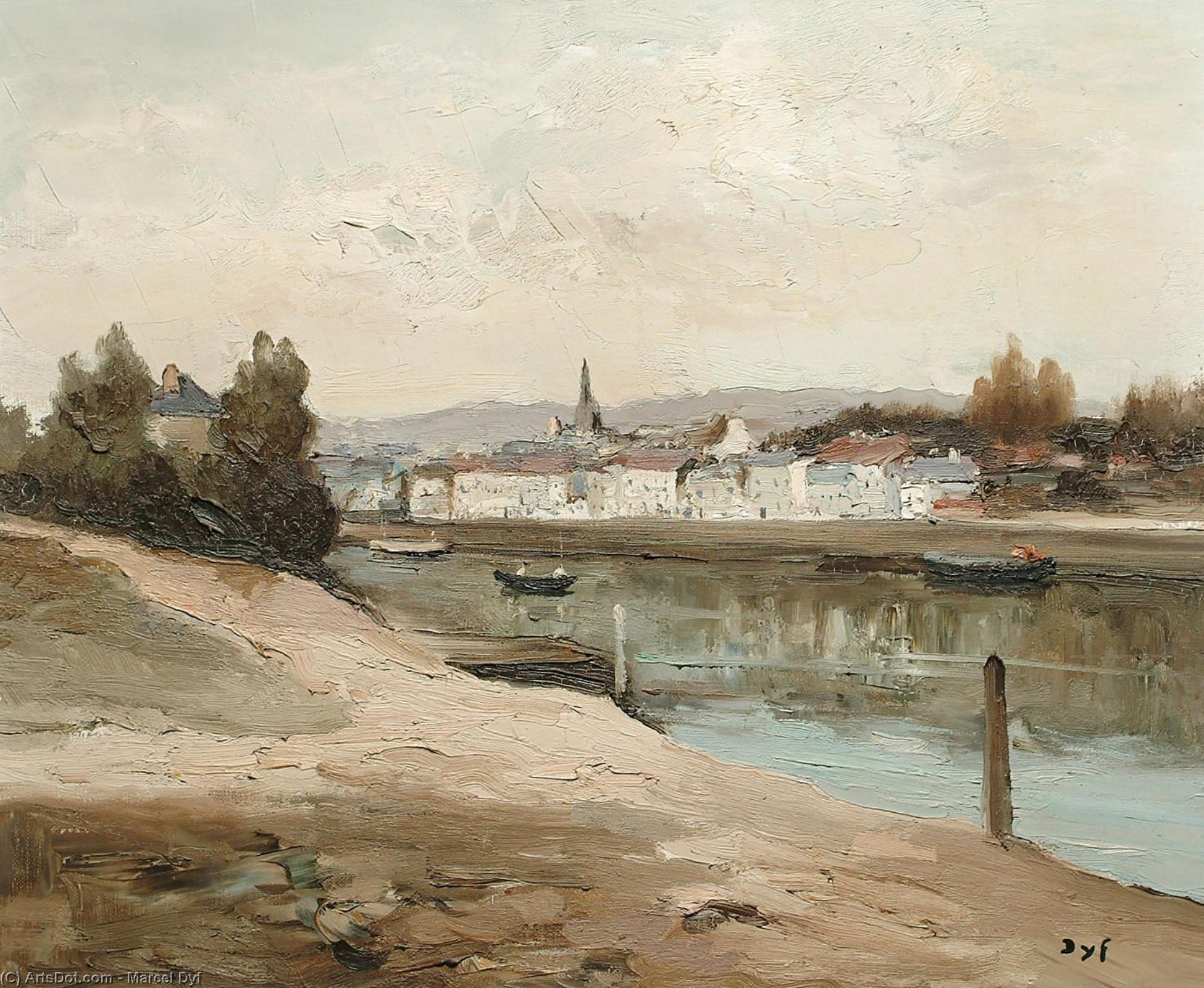 Bank of the River by Marcel Dyf (1899-1985, France)