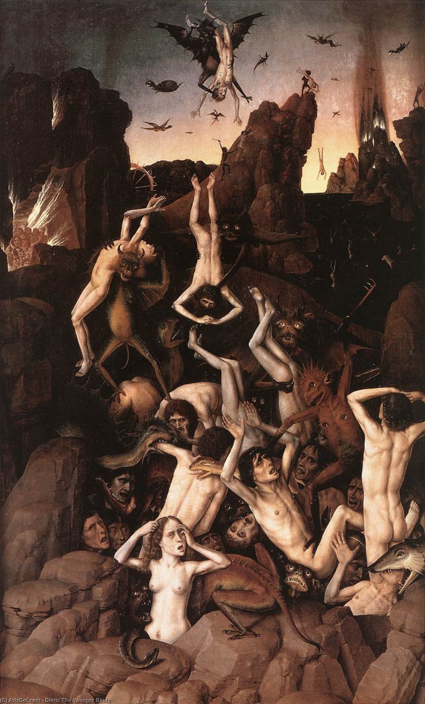 Hell by Dieric The Younger Bouts (1448-1491, Belgium)