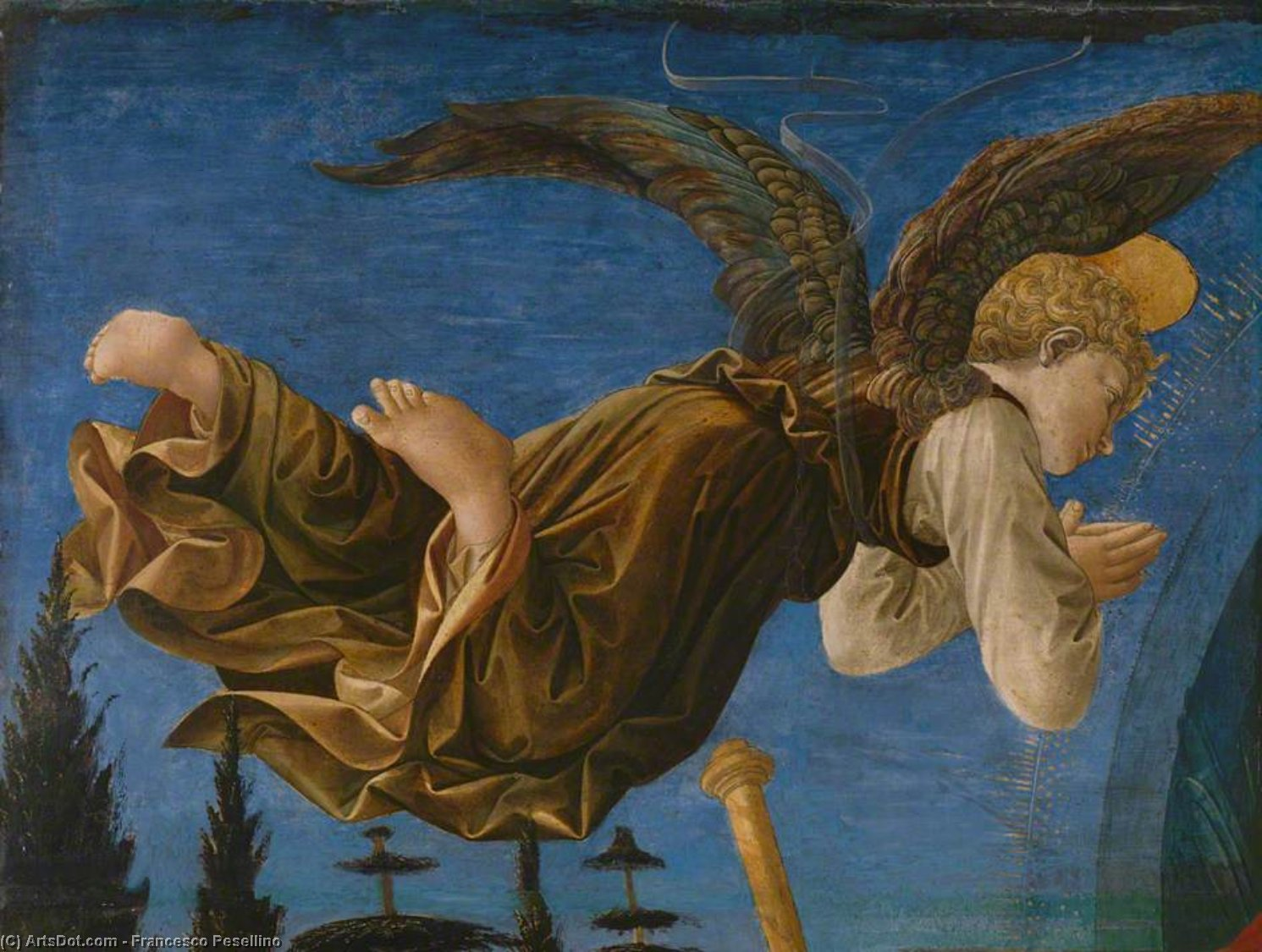 Angel (Left Hand) by Francesco Di Stefano Pesellino (1422-1457) | Oil Painting | ArtsDot.com