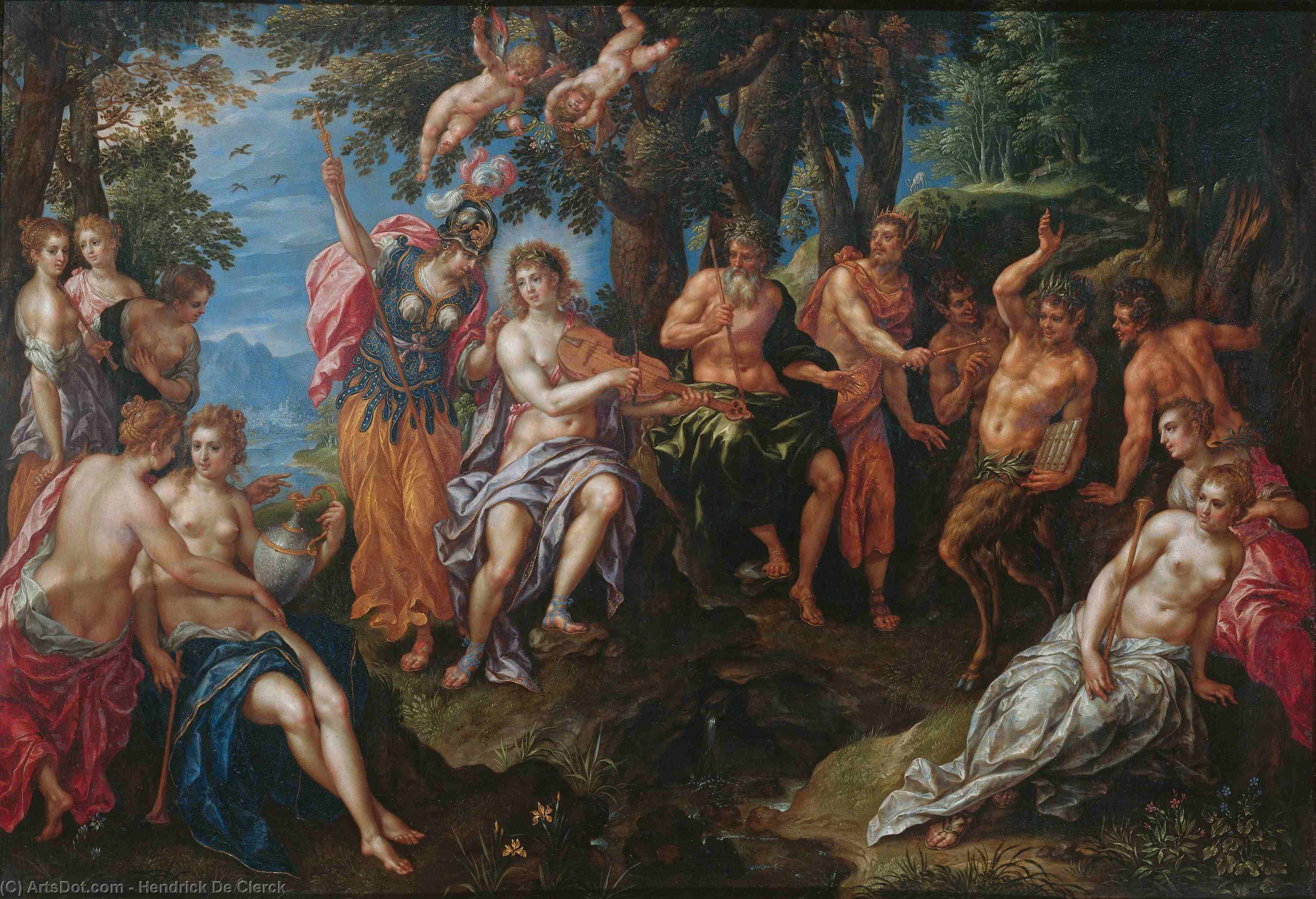 The contest between Apollo and Pan by Hendrick De Clerck (1570-1630) | ArtsDot.com