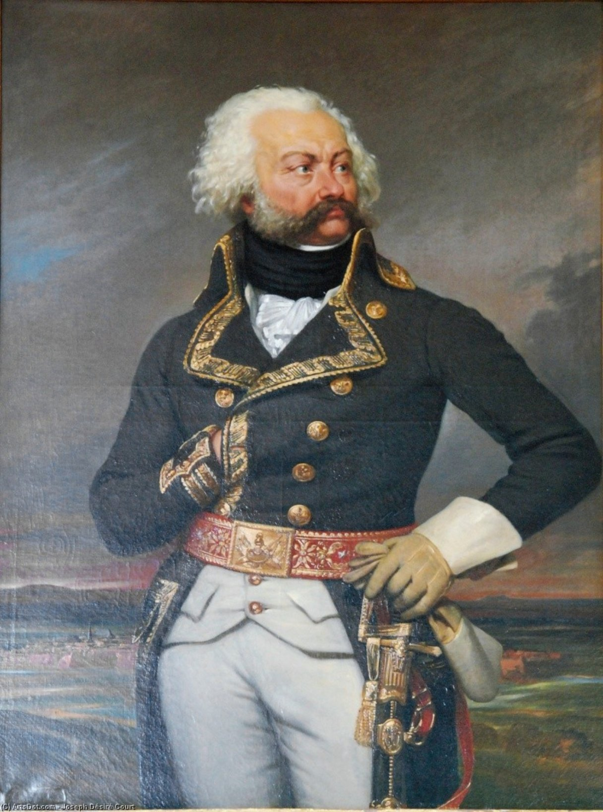 Adam-Philipe, comte de Custine, general-in-chief of the army of the Rhine in (1792) by Joseph Désiré Court (1797-1865, France)