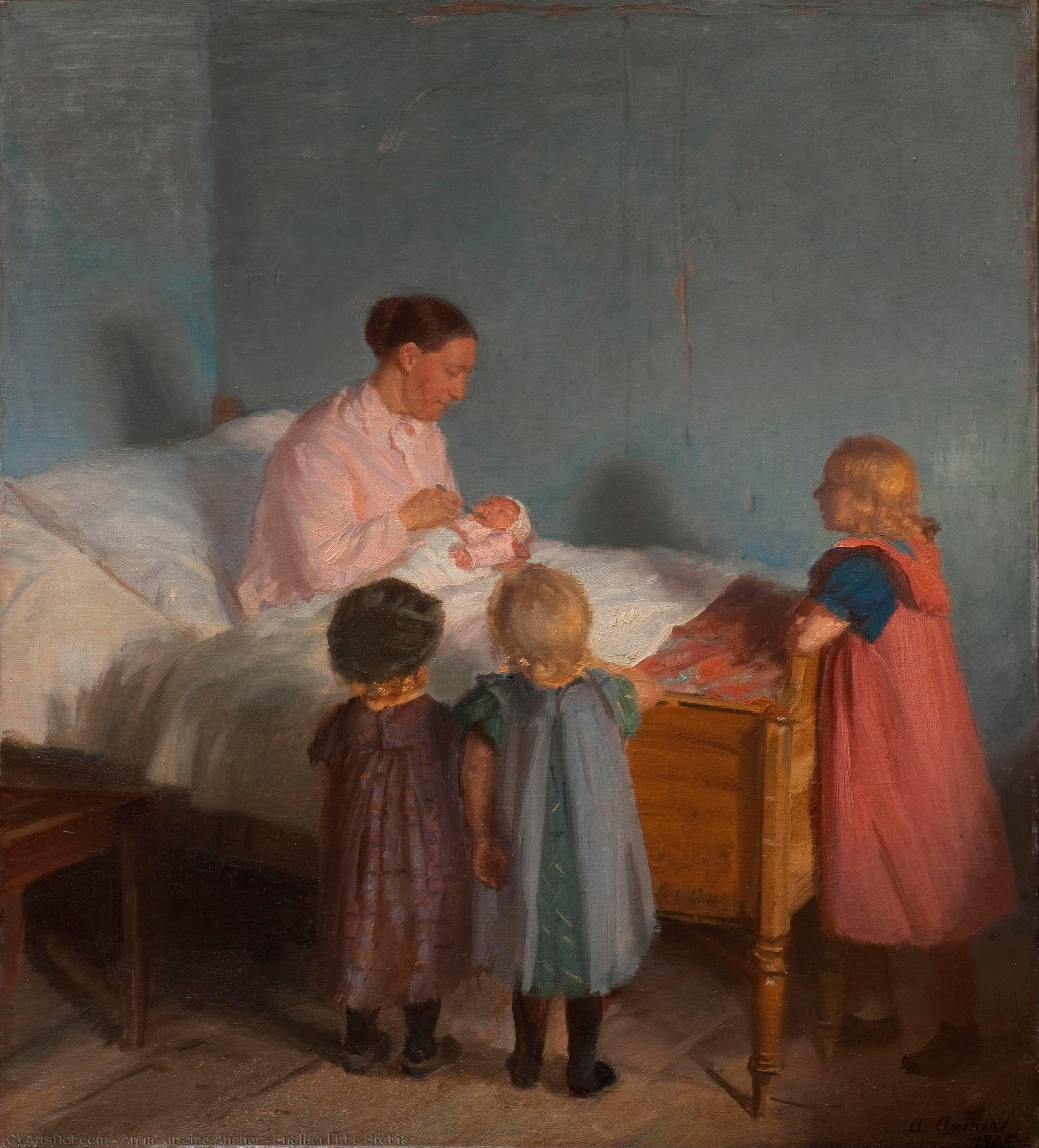 English Little Brother, 1905 by Anna Kirstine Ancher (1859-1935, Denmark) | Oil Painting | ArtsDot.com