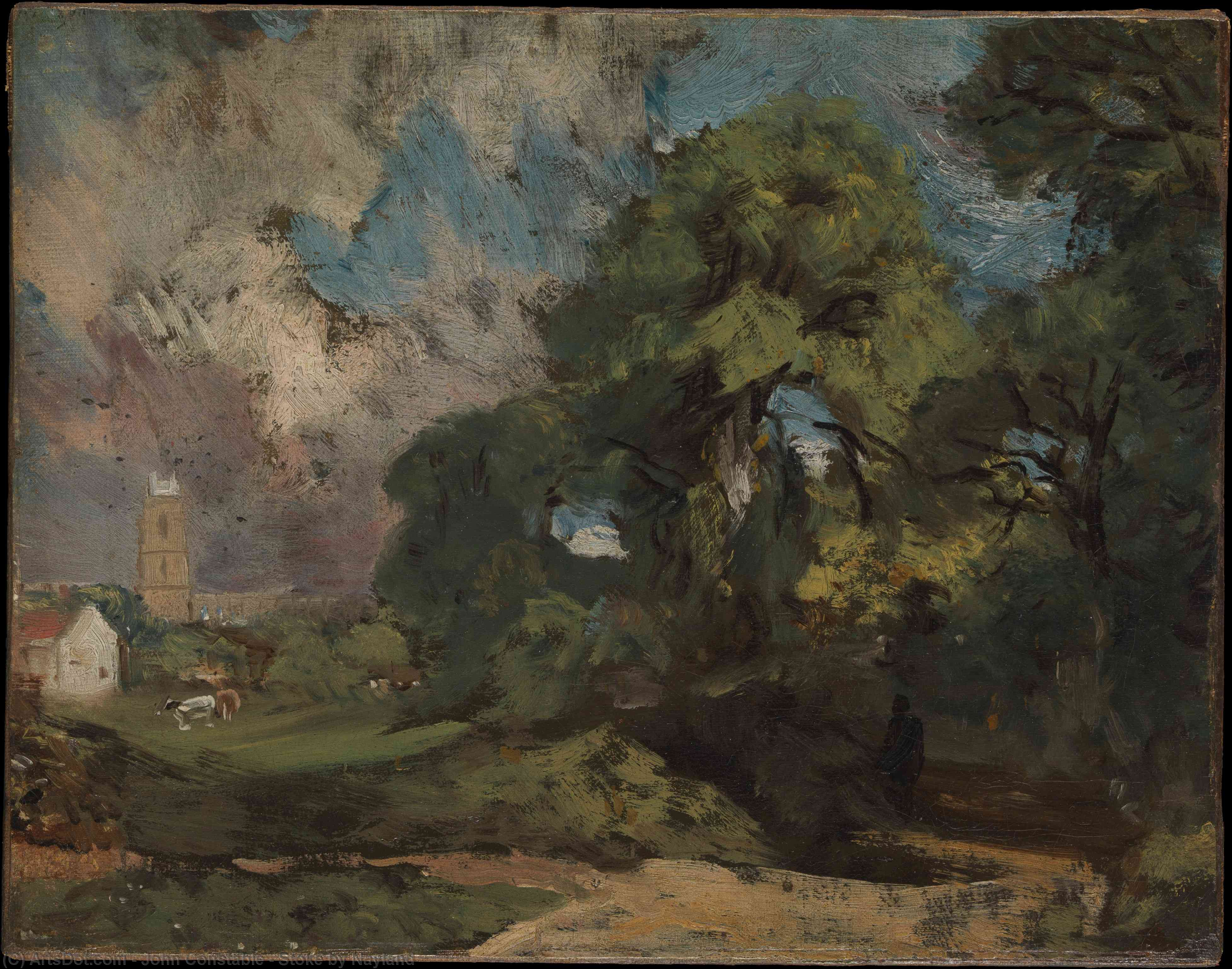 Buy Museum Art Reproductions : Stoke by Nayland, 1810 by John Constable (1776-1837, United Kingdom) | ArtsDot.com