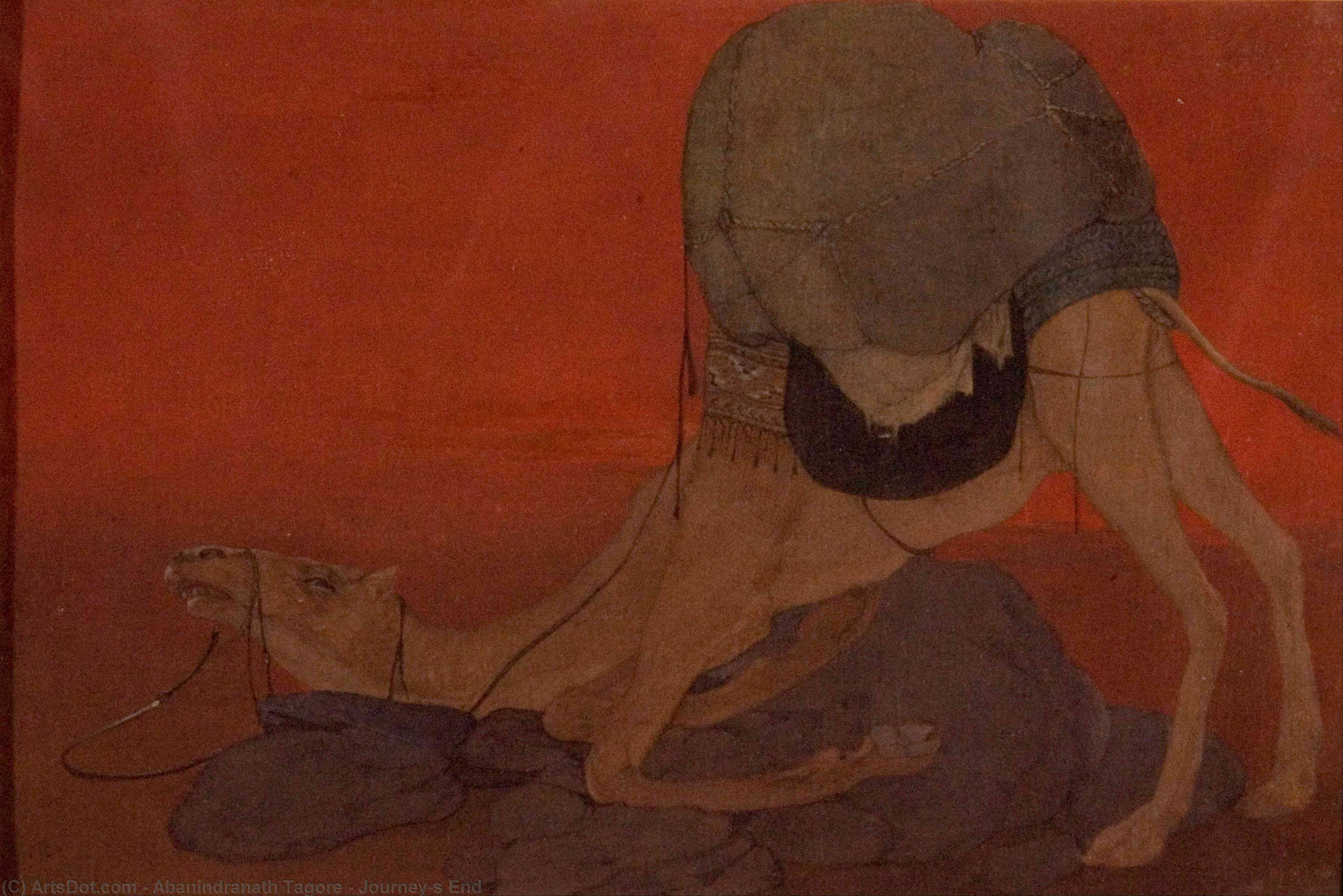 Journey`s End, 1913 by Abanindranath Tagore (1871-1951, India) | Museum Quality Reproductions | ArtsDot.com