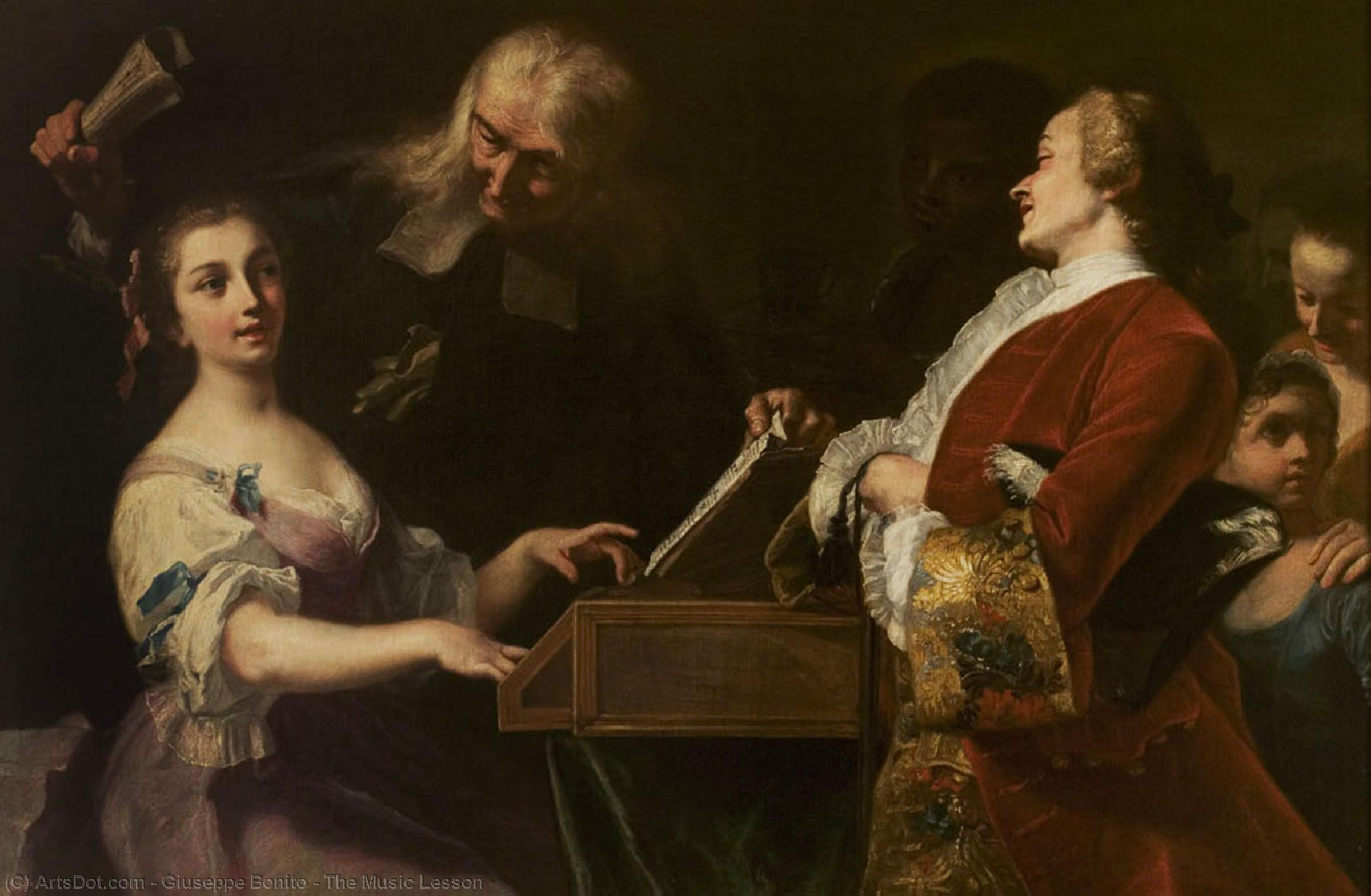 Order Museum Quality Copies | The Music Lesson, 1742 by Giuseppe Bonito (1707-1789) | ArtsDot.com