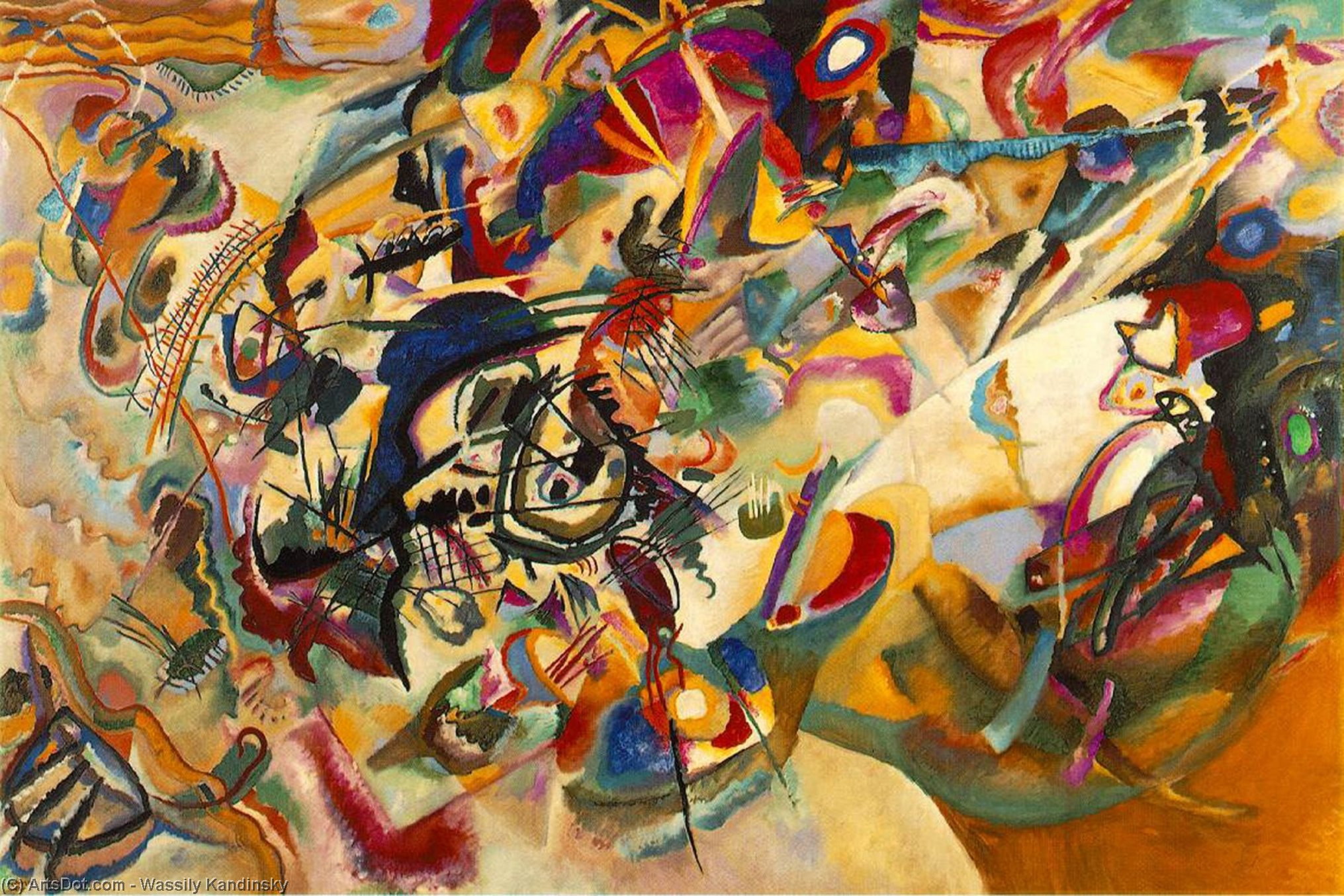Composition VII, 1913 by Wassily Kandinsky (1866-1944, Russia) | Museum Art Reproductions | ArtsDot.com