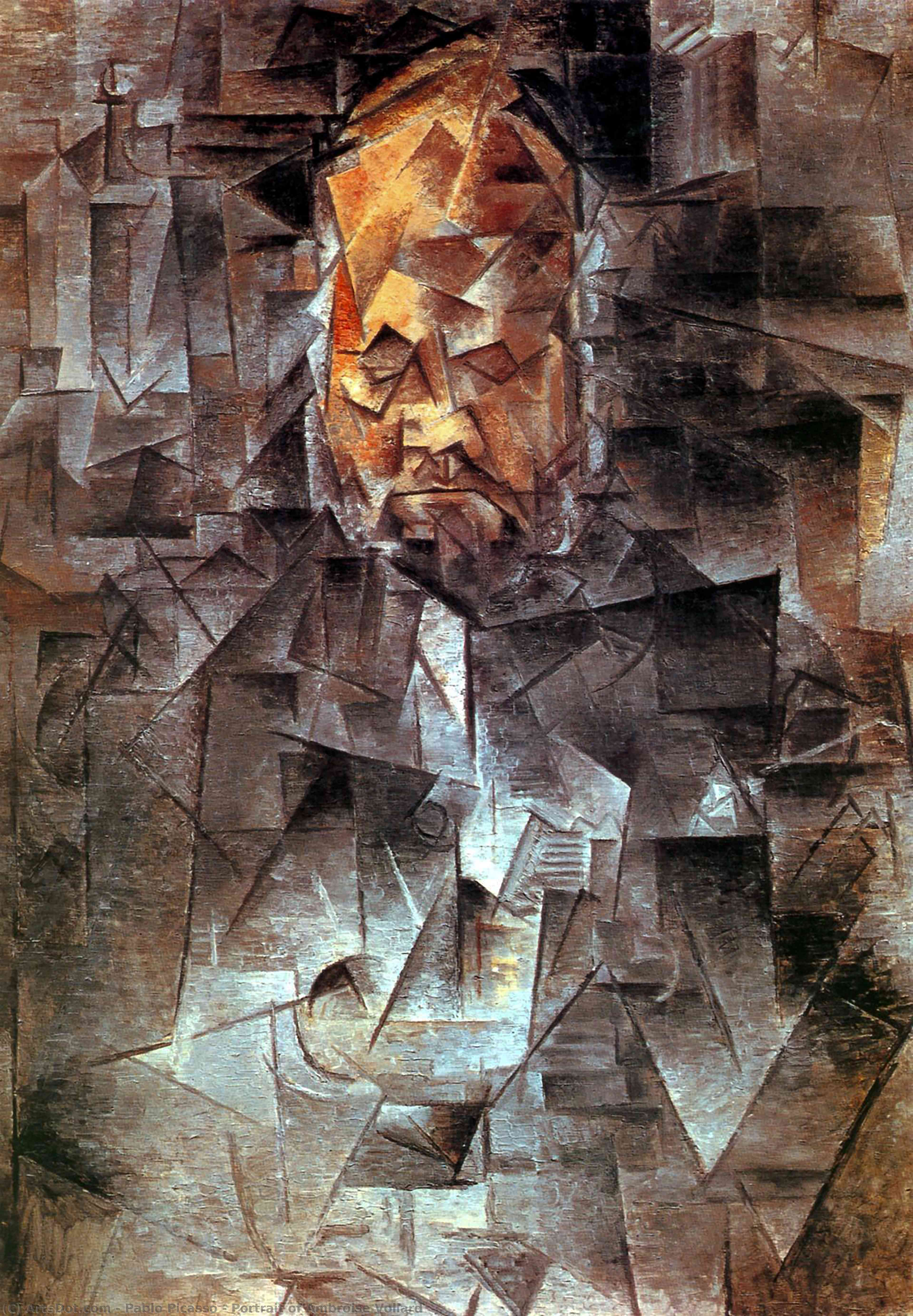 Portrait of Ambroise Vollard, 1910 by Pablo Picasso (1881-1973, Spain) |  | ArtsDot.com