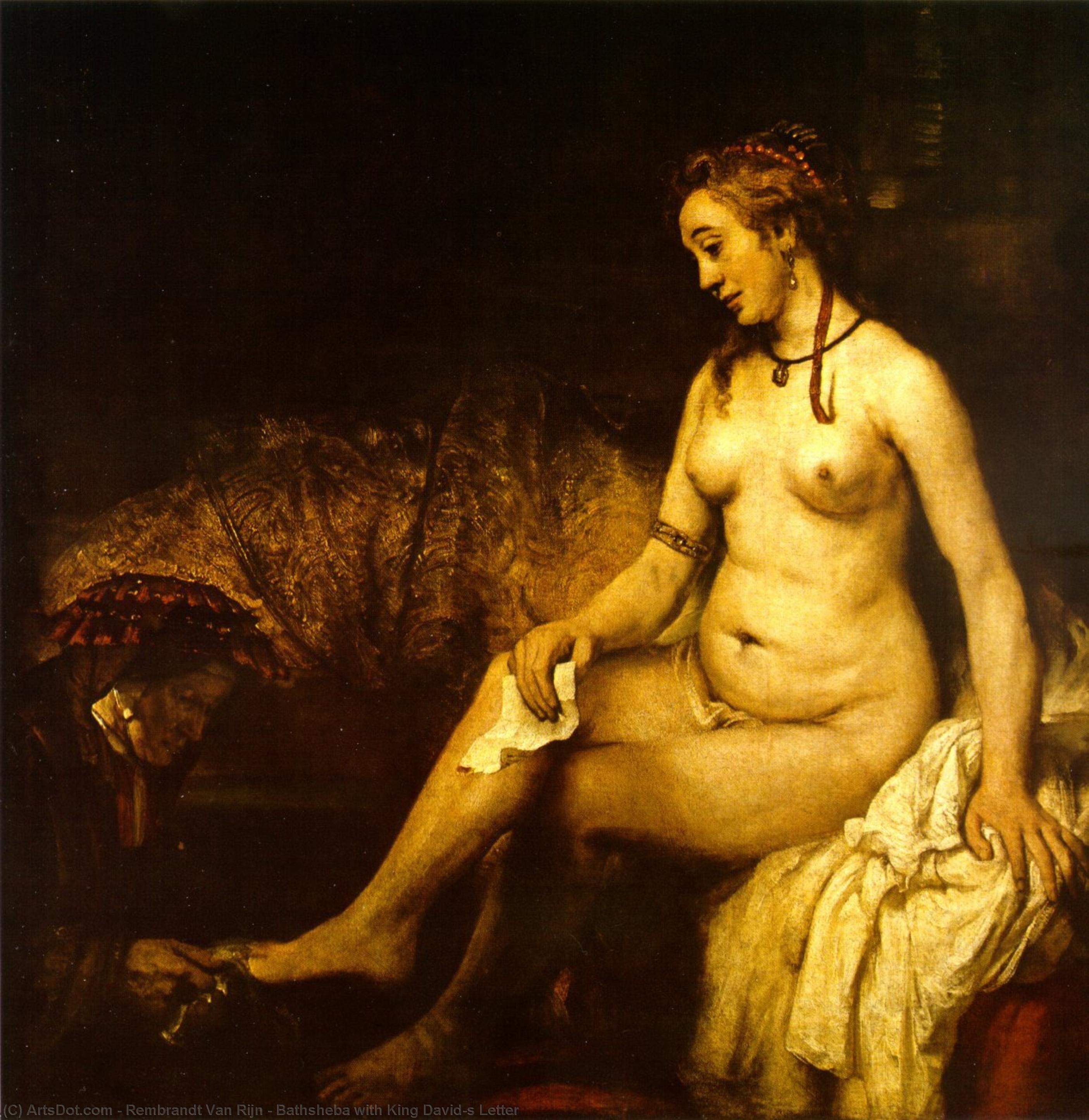 Bathsheba with King David`s Letter by Rembrandt Van Rijn (1606-1669, Netherlands) | Museum Art Reproductions Rembrandt Van Rijn | ArtsDot.com