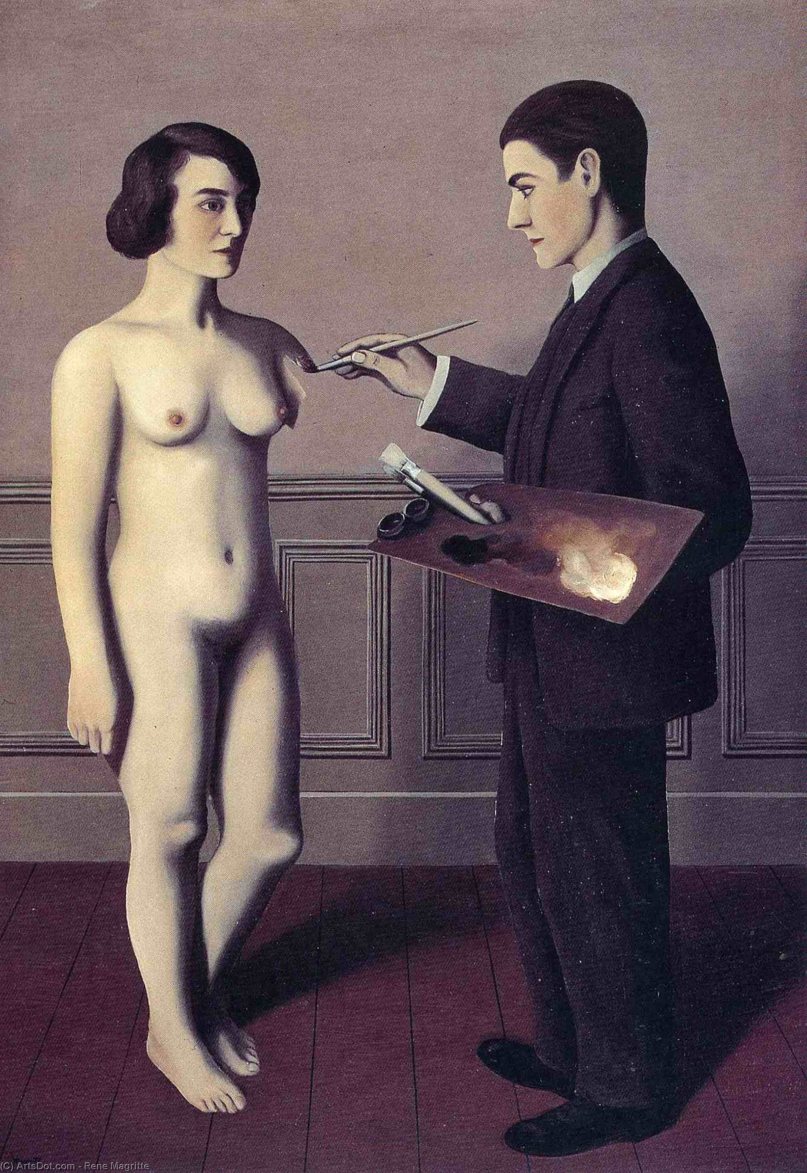 Attempting the Impossible, 1928 by Rene Magritte (1898-1967, Belgium) | ArtsDot.com