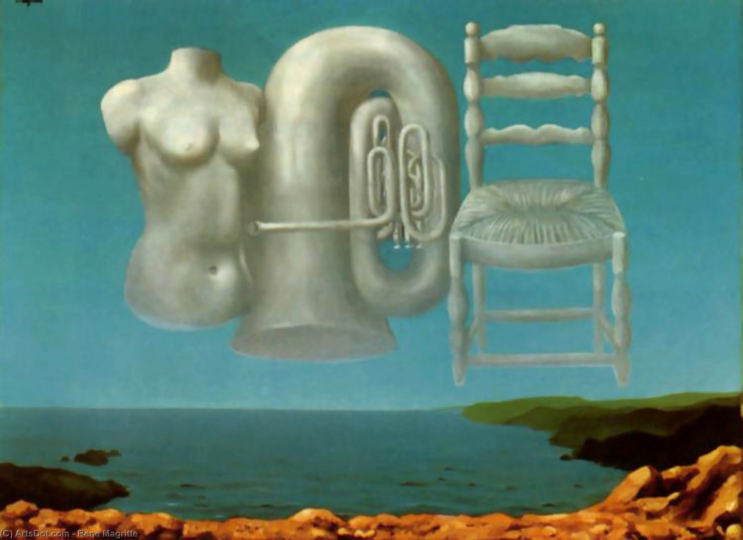 Threatening Weather, Oil On Canvas by Rene Magritte (1898-1967, Belgium)