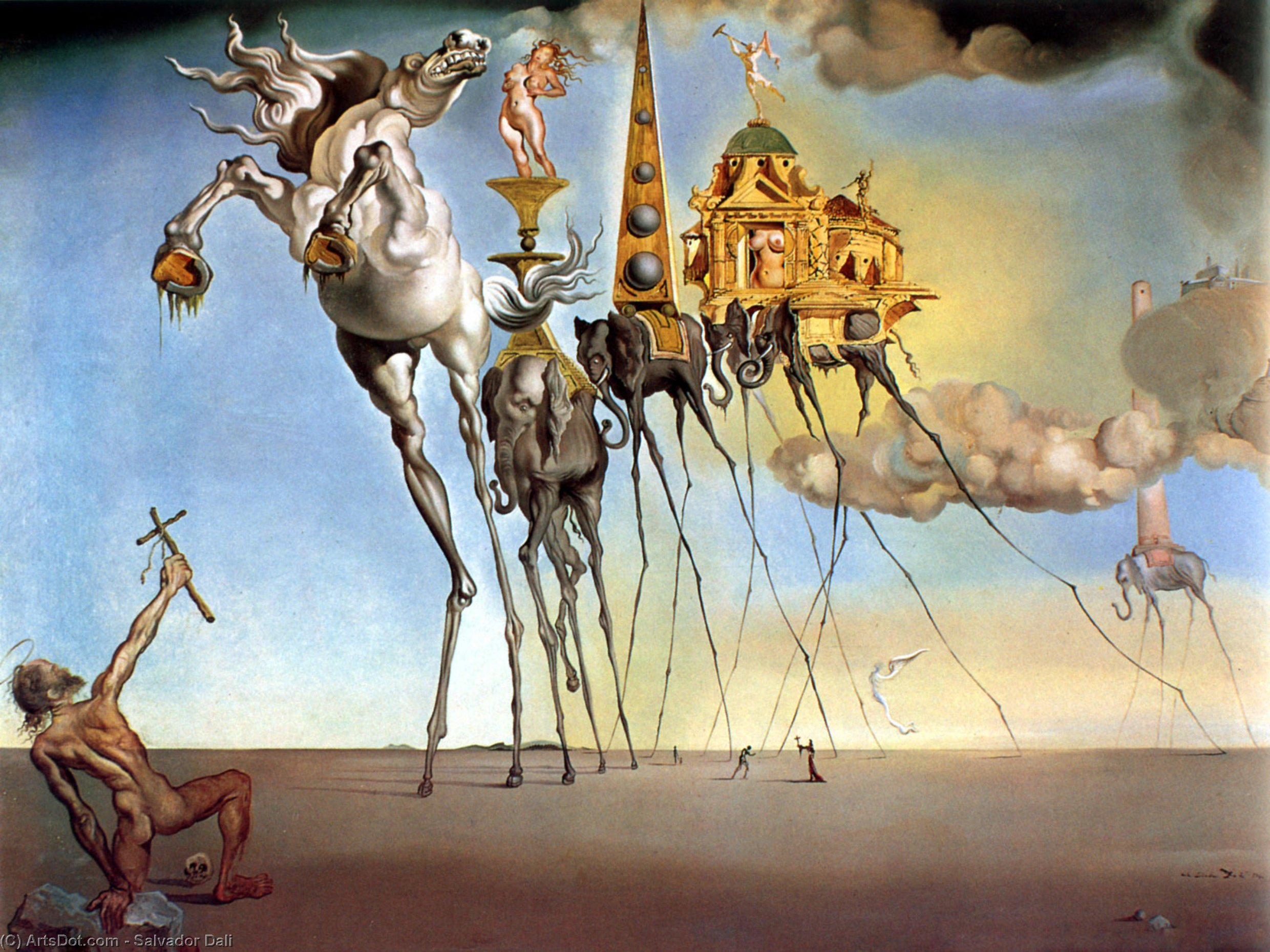 The Temptation Of Saint Anthony, 1946 by Salvador Dali (1938-1989, Spain) |  | ArtsDot.com