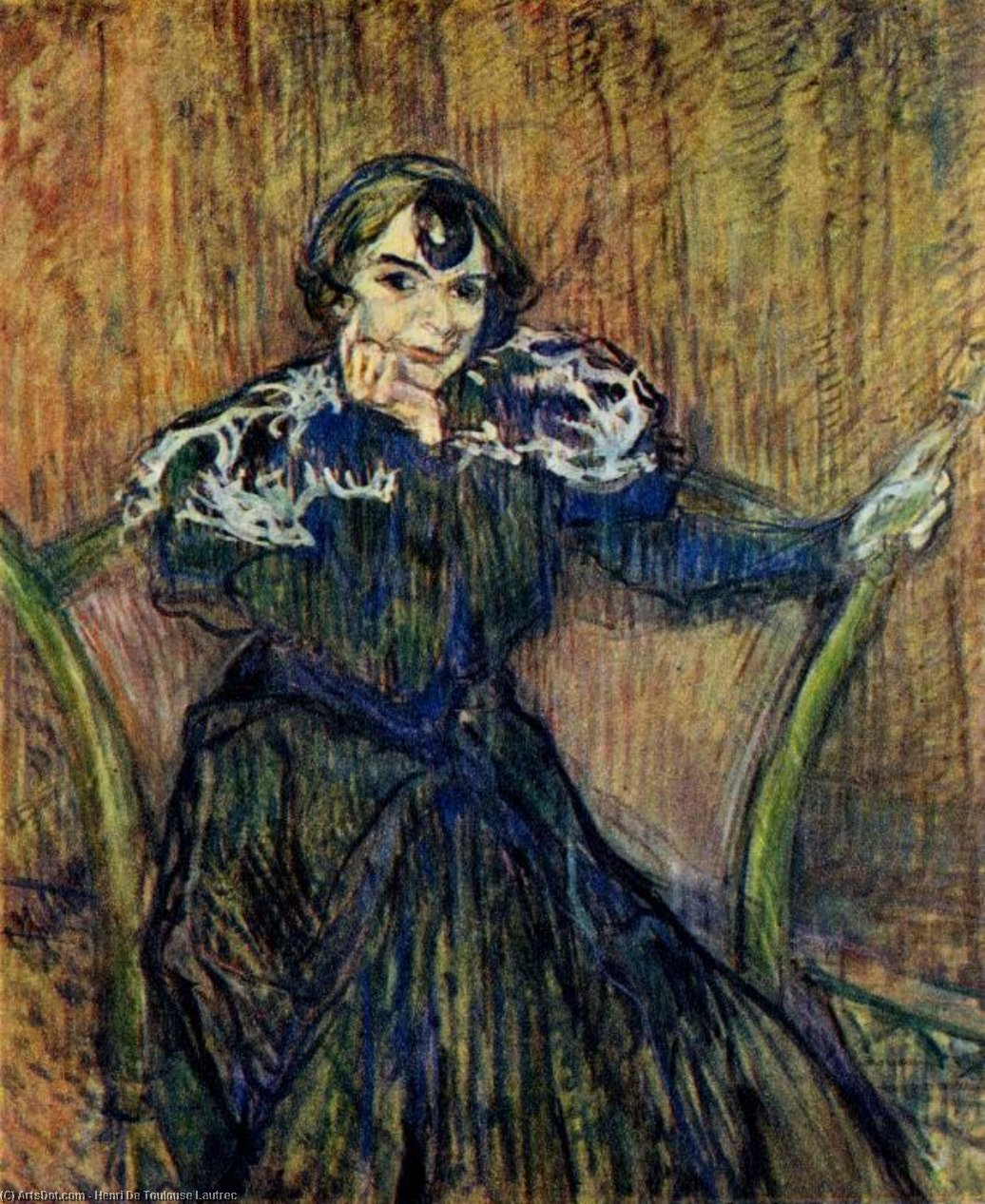 Portrait of Berthe Bady, 1897 by Henri De Toulouse Lautrec (1864-1901, France)
