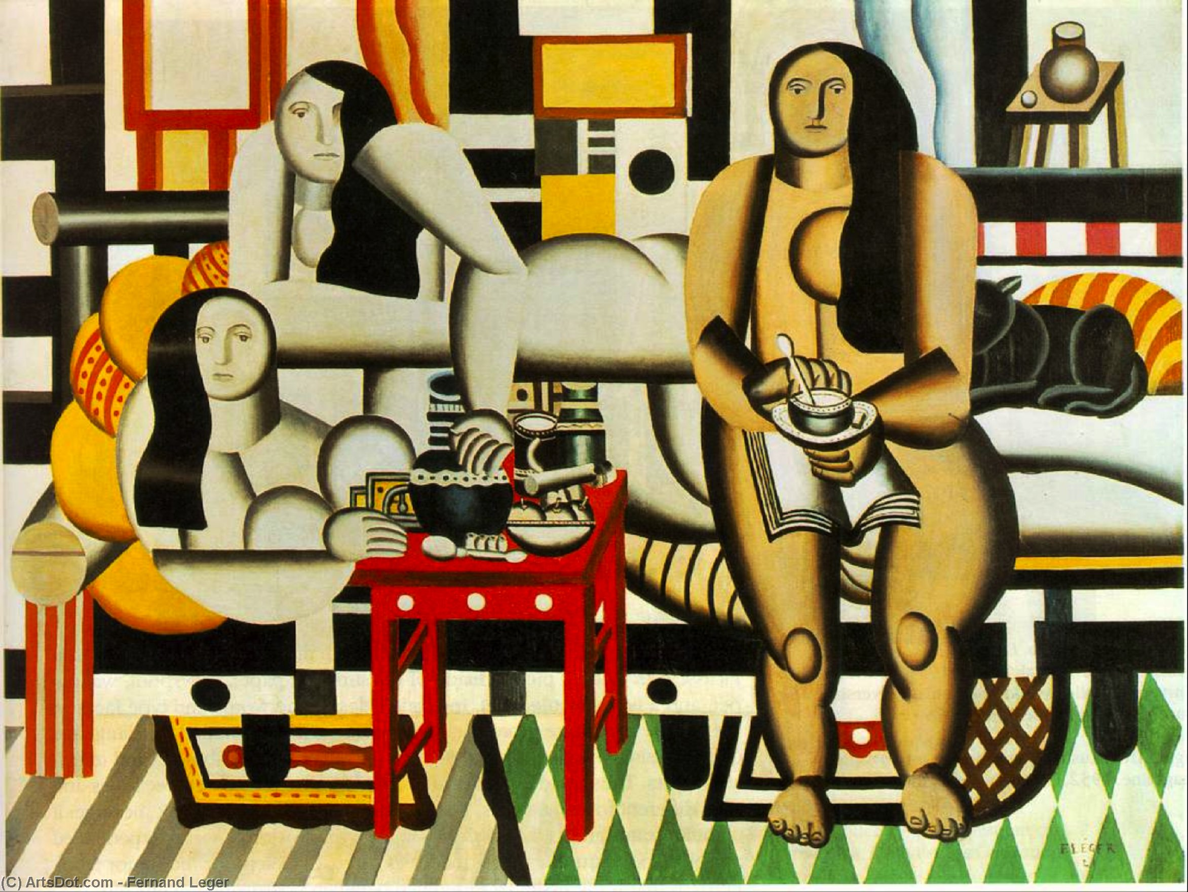Three Women, 1921 by Fernand Leger (1881-1955, France) |  | ArtsDot.com
